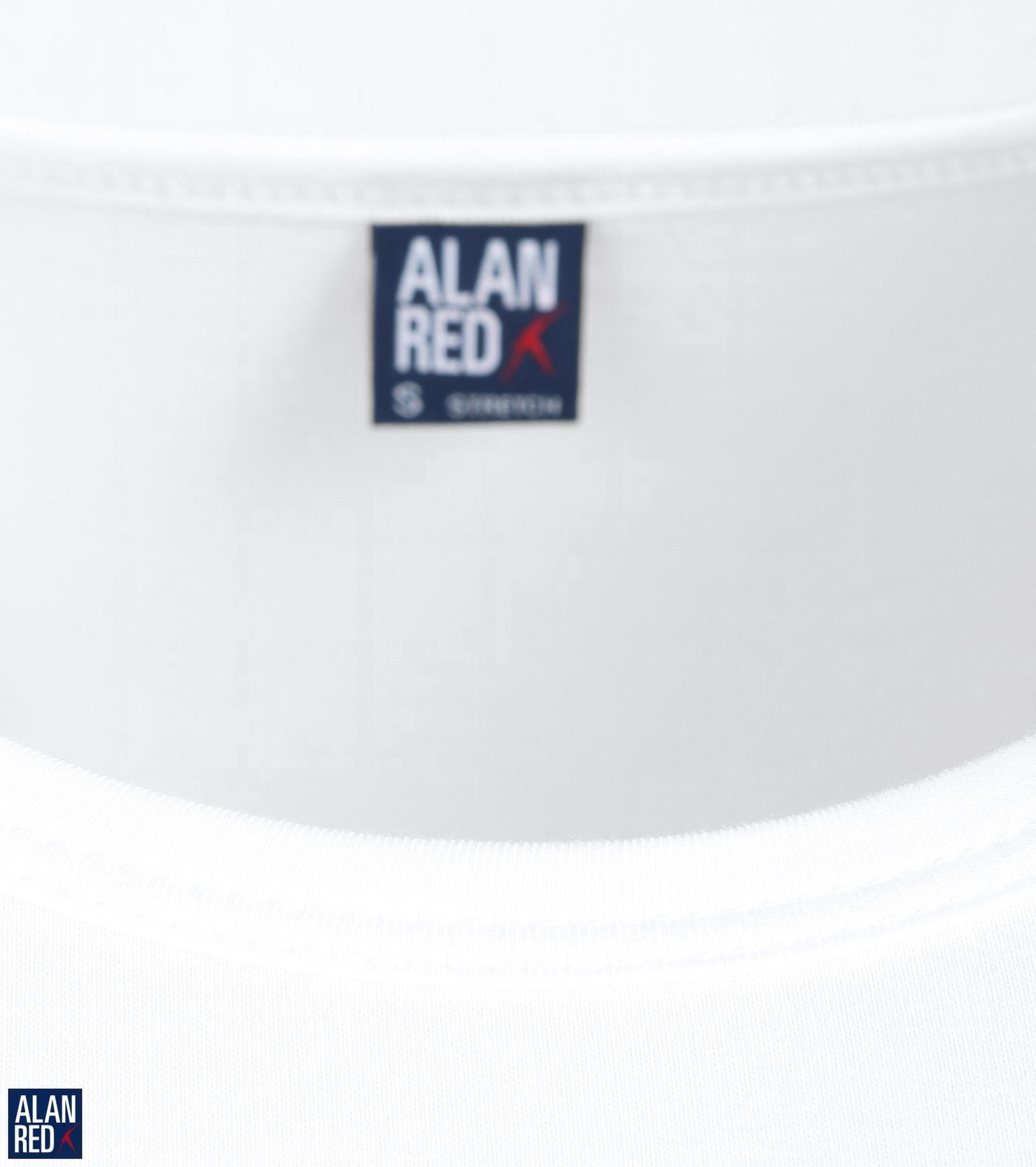 Alan Red Ottawa T-shirt Stretch Wit (2Pack)