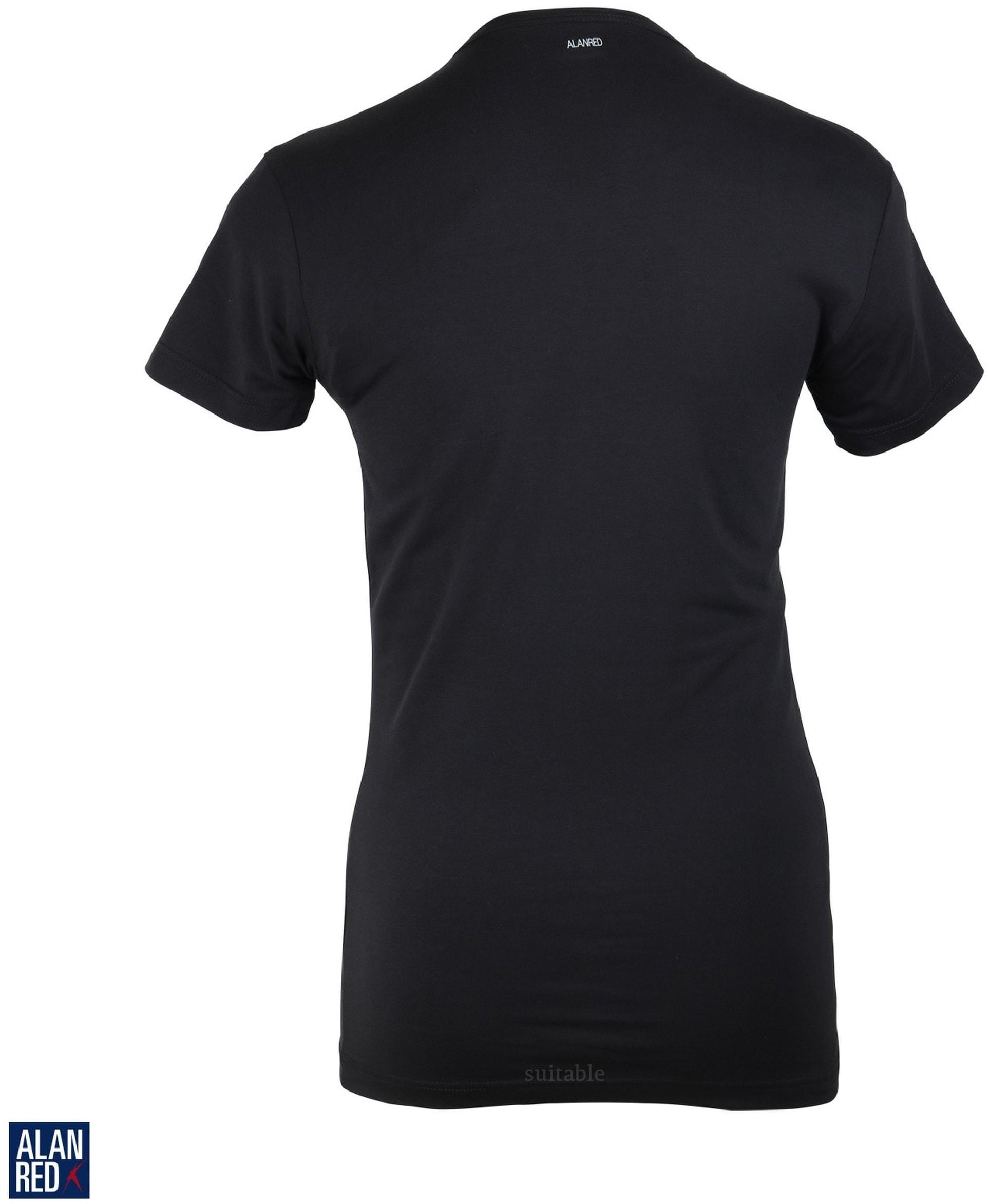 Alan Red Ottawa T-shirt Stretch Zwart (1Pack) foto 1