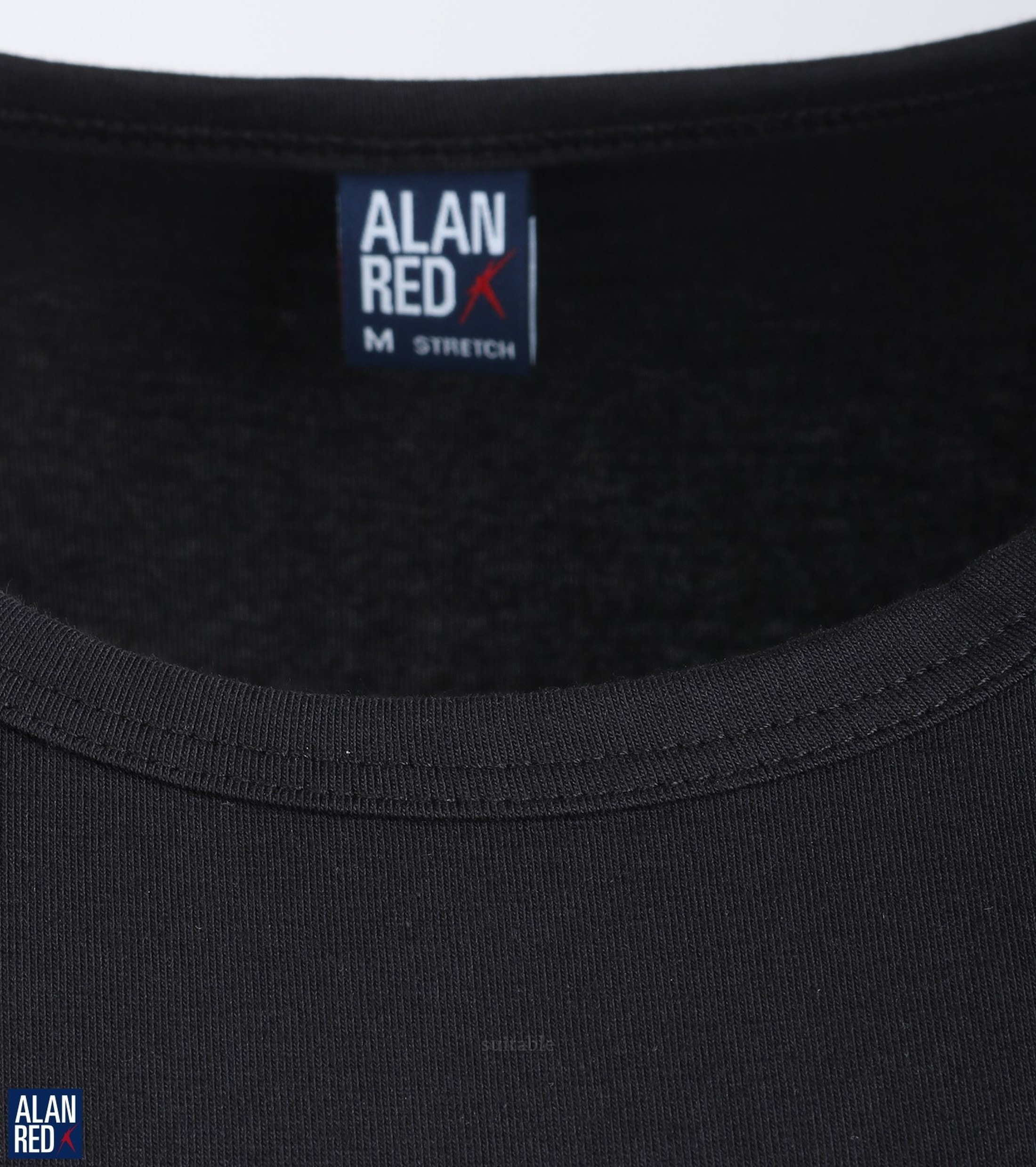 Alan Red Ottawa T-shirt Stretch Zwart (1Pack) foto 2