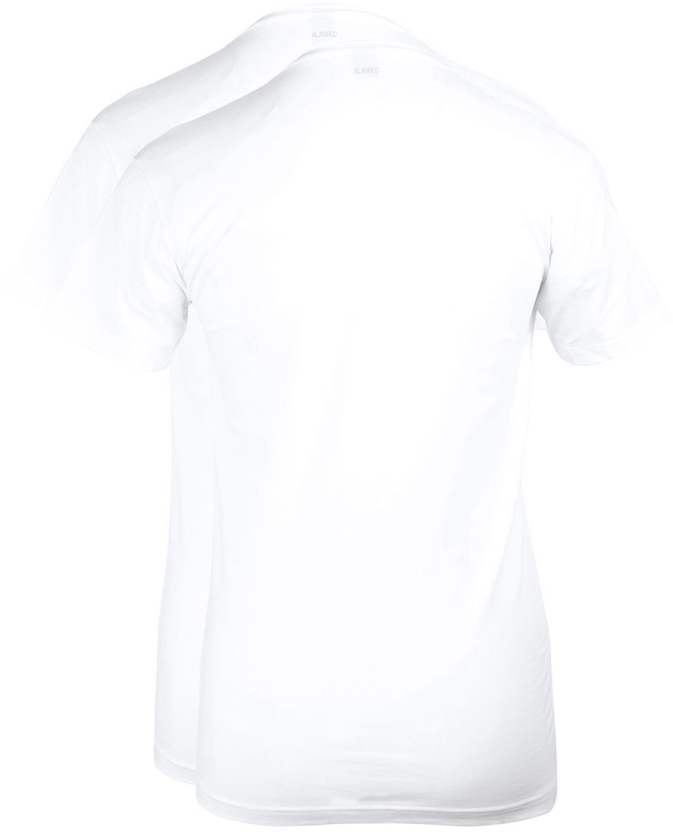 Alan Red T-shirt Deep V-Neck White 2-Pack foto 2