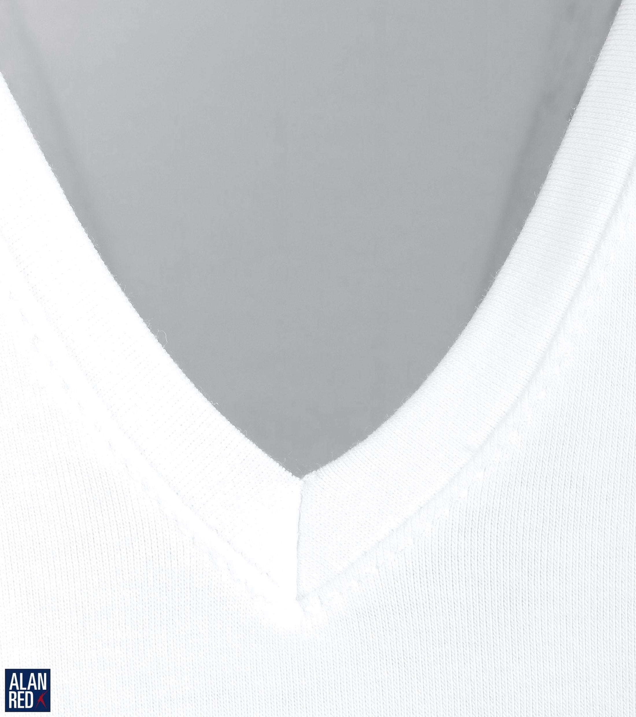 Alan Red T-shirt Deep V-Neck White 2-Pack foto 1
