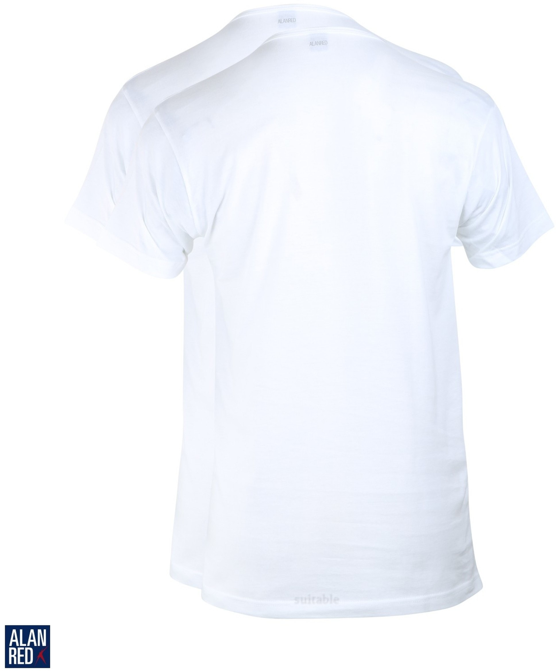 Alan Red T-Shirt Derby Weiß  (2er-Pack) foto 2