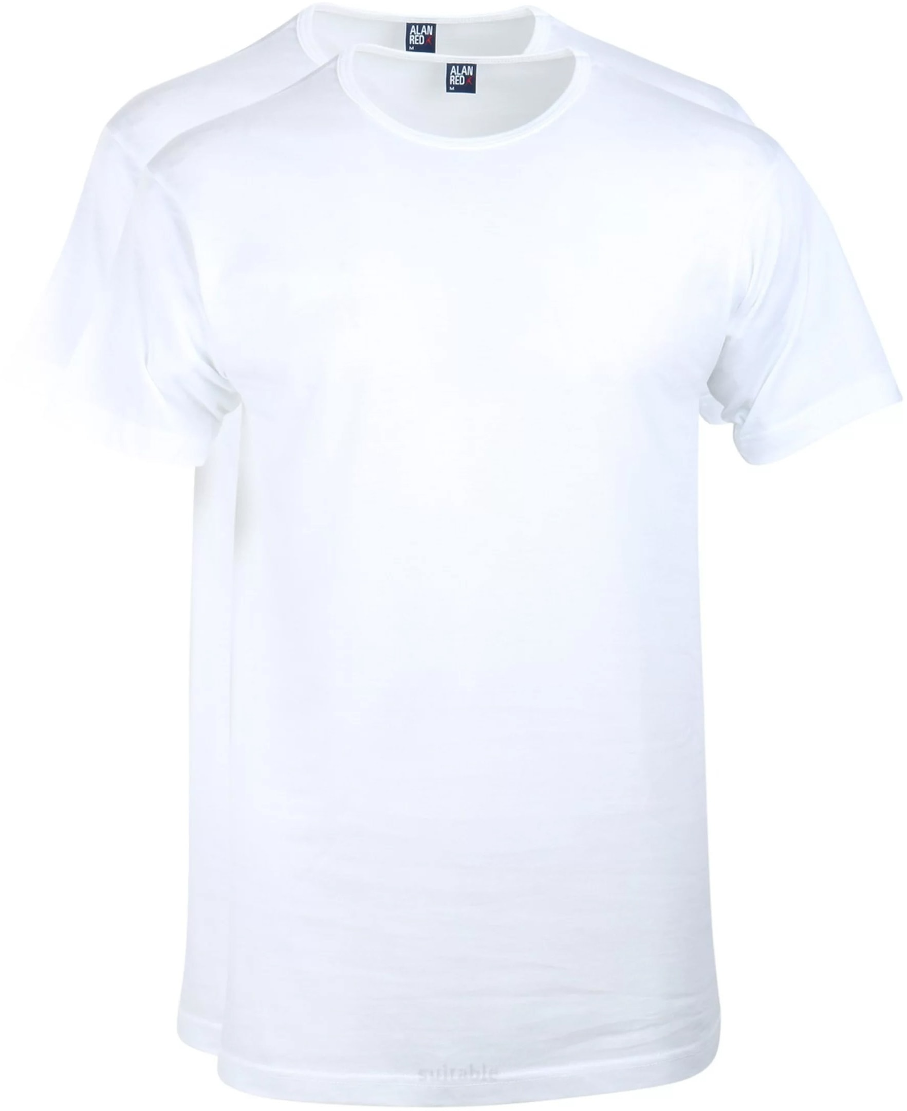 Alan Red T-Shirt Derby Weiß  (2er-Pack) foto 0