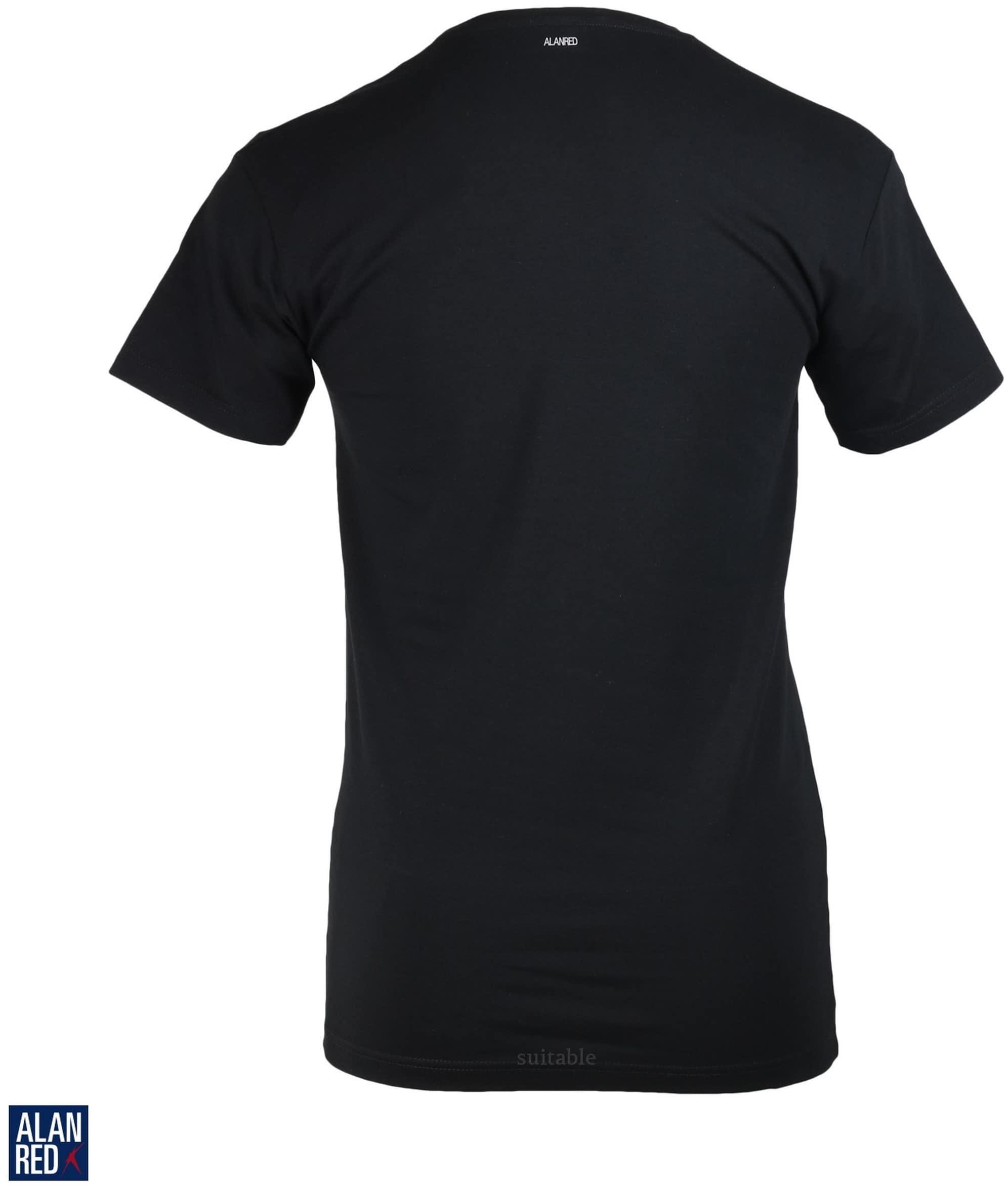 Alan Red T-Shirt Extra Diepe V-Hals Zwart foto 2