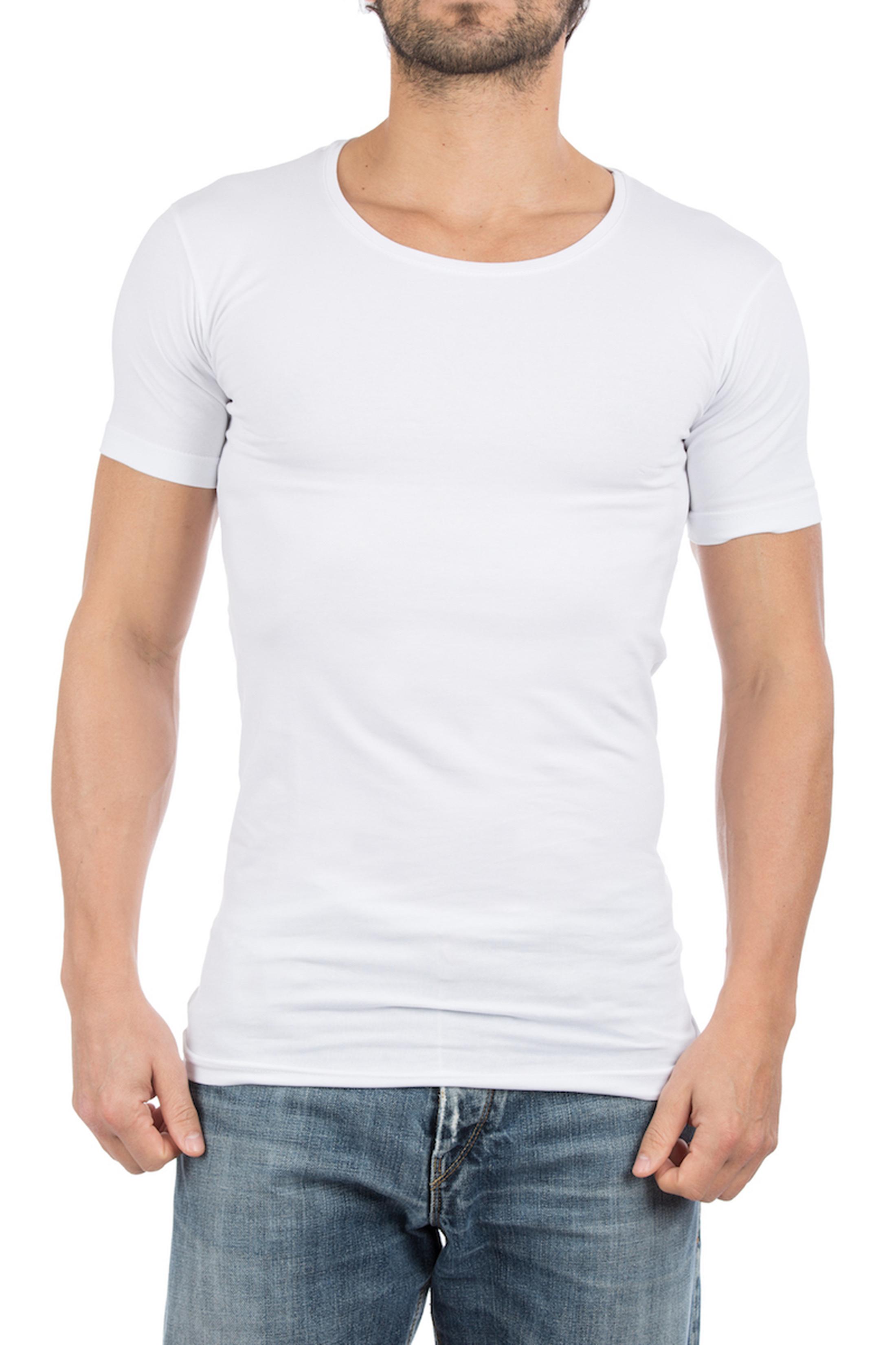 Alan Red T-Shirt Extra Weiter U-Ausschnitt Stretch
