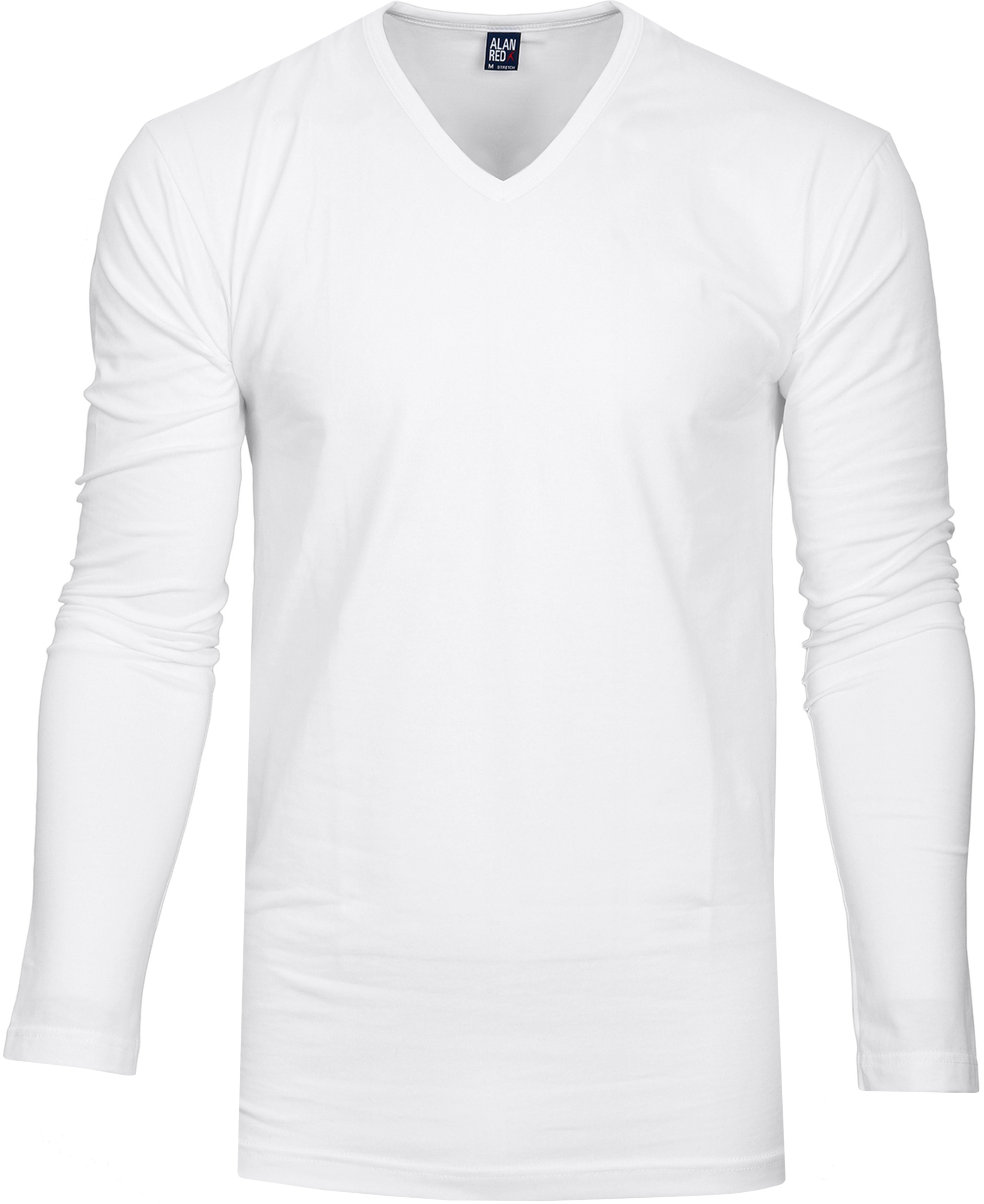 Alan Red T-shirt Oslo V-Ausschnitt Longsleeve