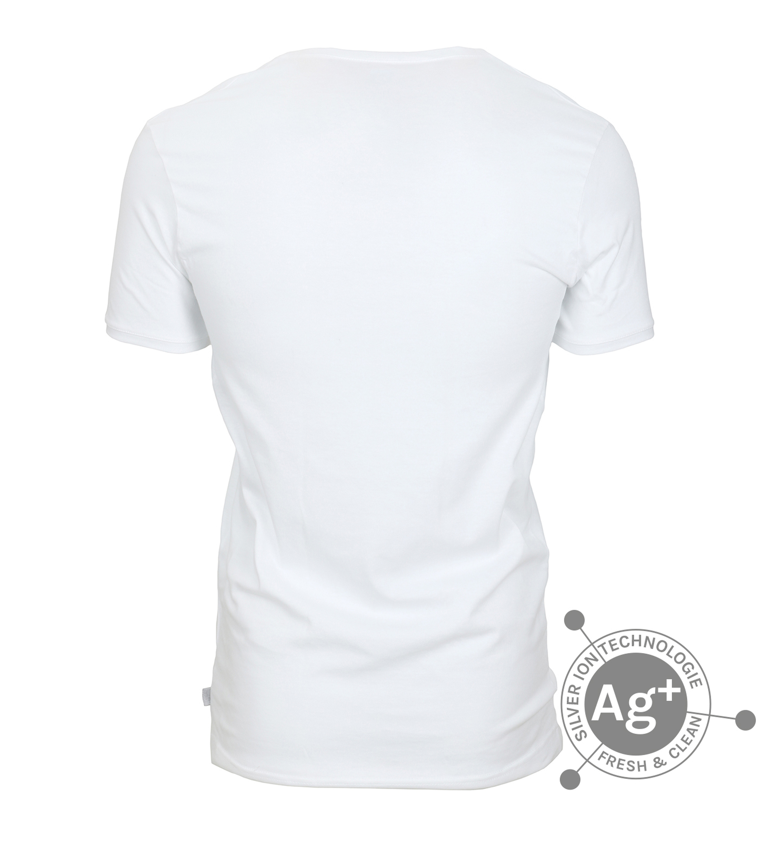 Alan Red T-shirt Silver Weiss foto 2
