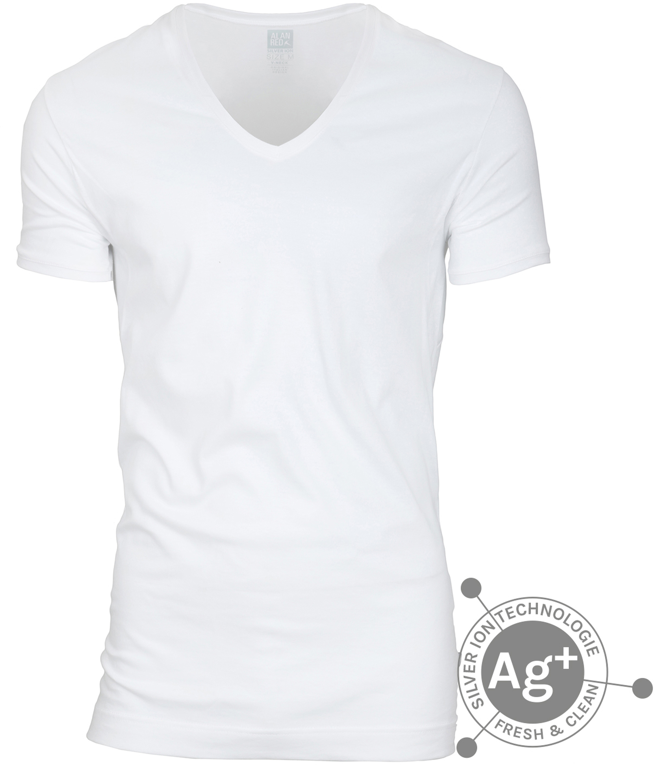 Alan Red T-shirt Silver Weiss foto 0