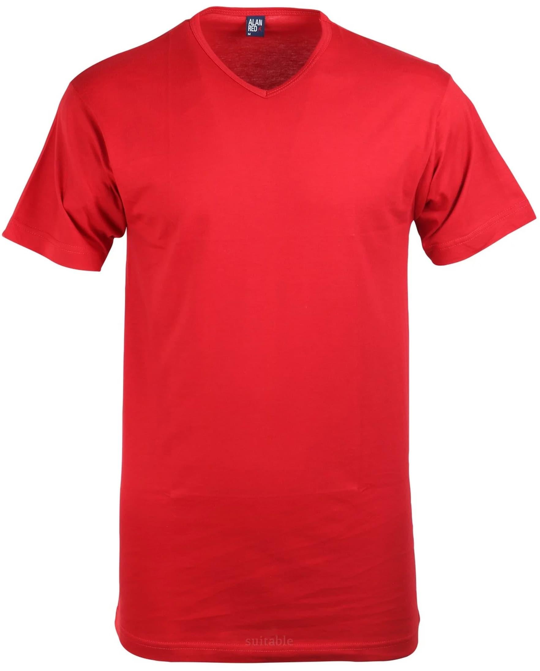 Alan Red T-Shirt V-Ausschnitt Vermont Stone Red (1er-Pack)