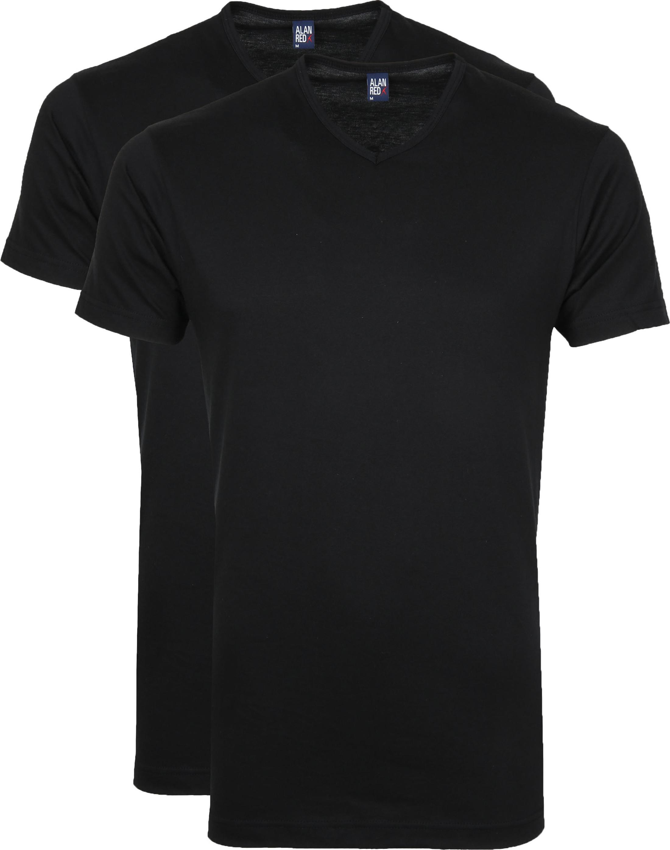 Alan Red T-Shirt V-Hals Vermont Zwart (2pack)