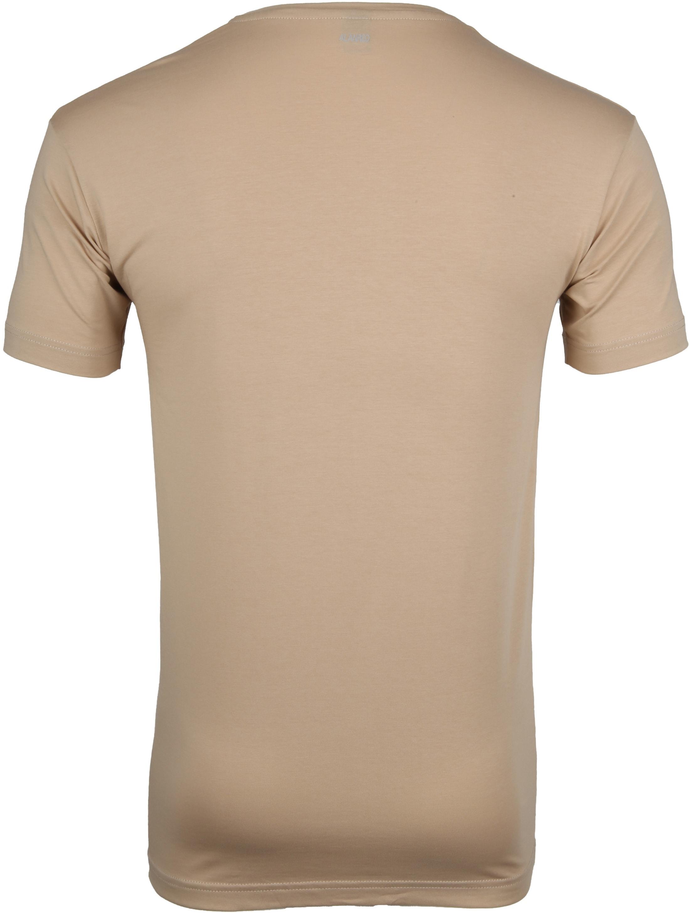 Alan Red T-Shirt V-Neck Stretch Beige 2-Pack
