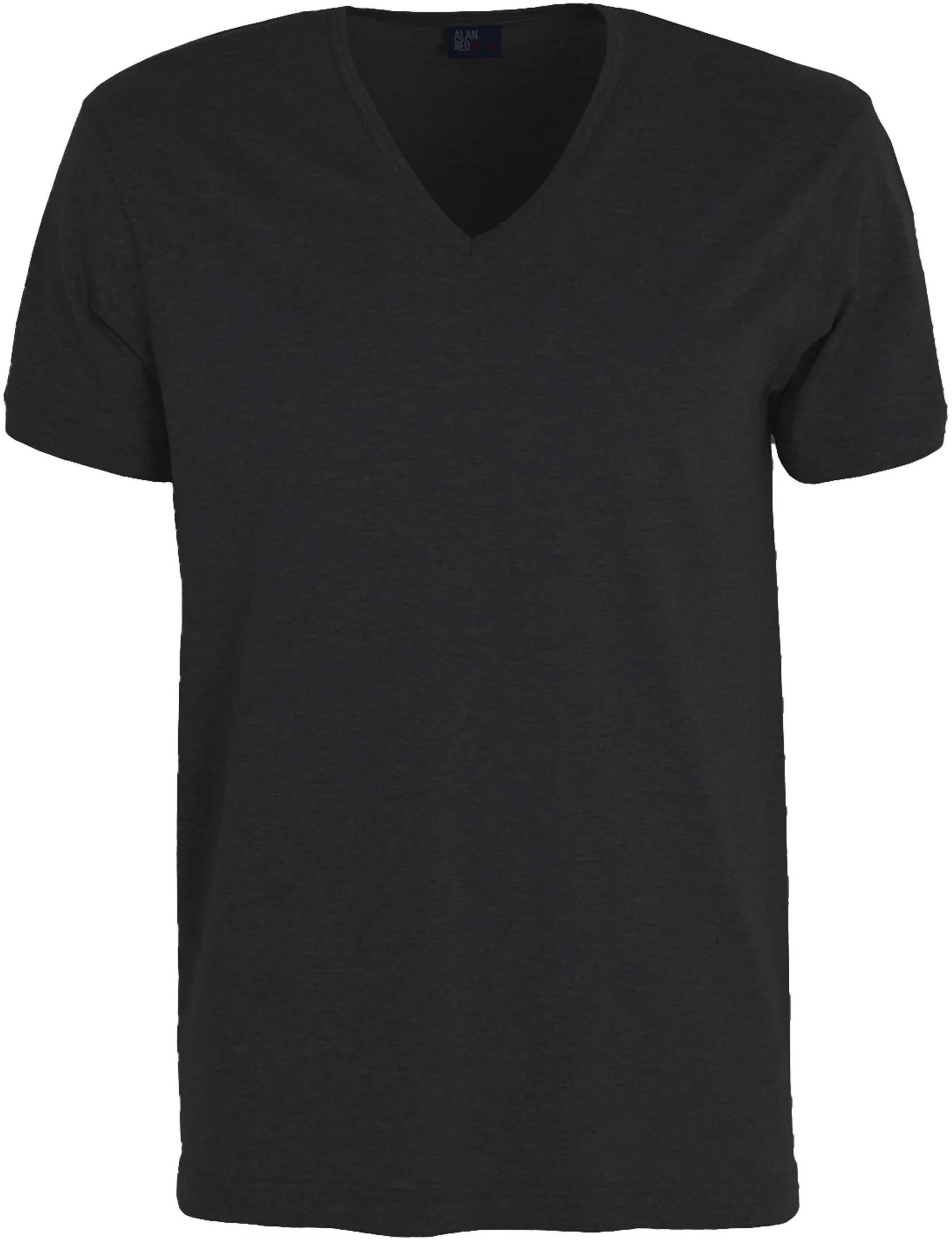 Alan Red T-Shirt Verner Tiefer V-Ausschnitt Schwarz foto 0