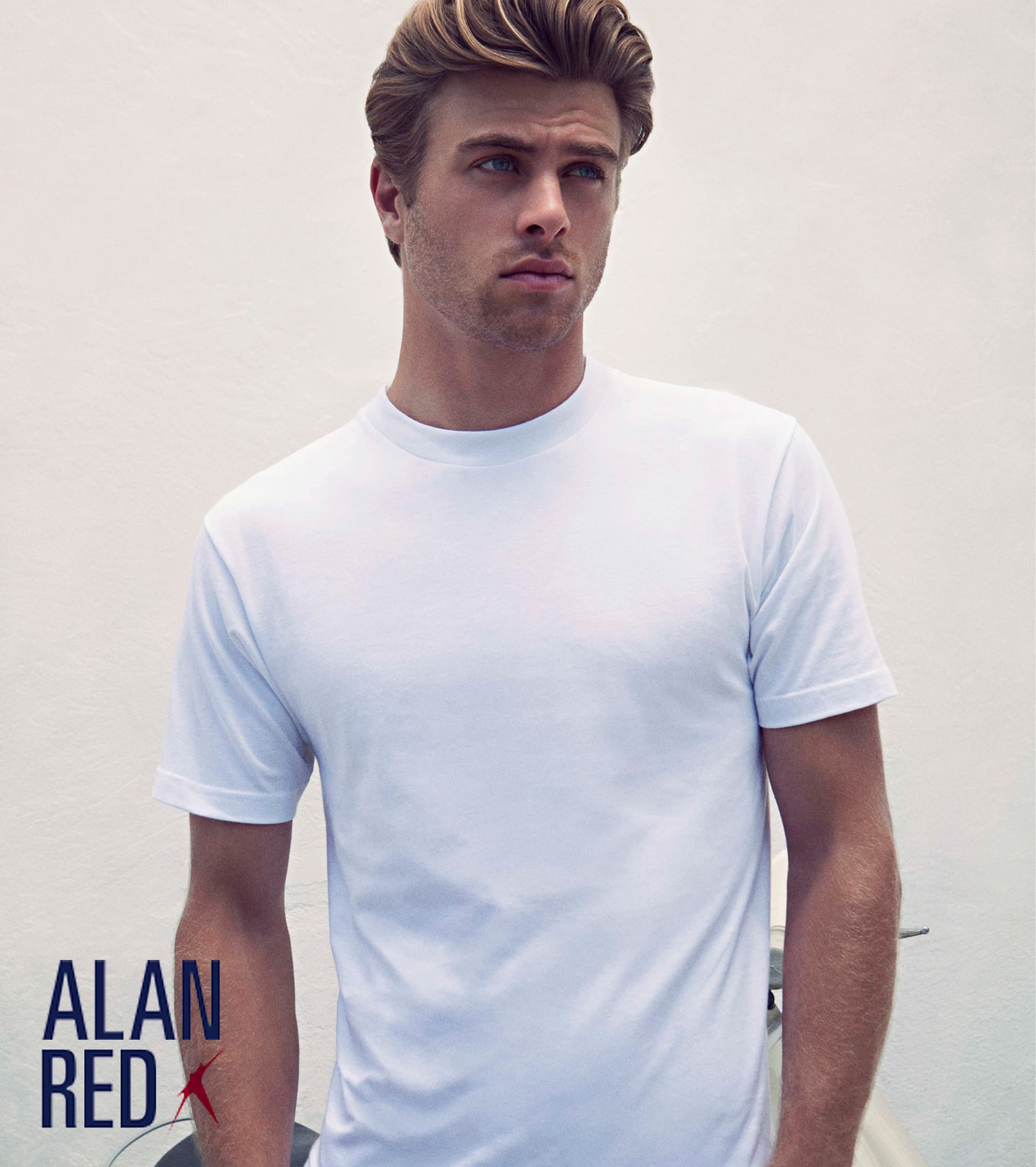 Alan Red T-shirt Virginia O-Neck 2-Pack photo 3