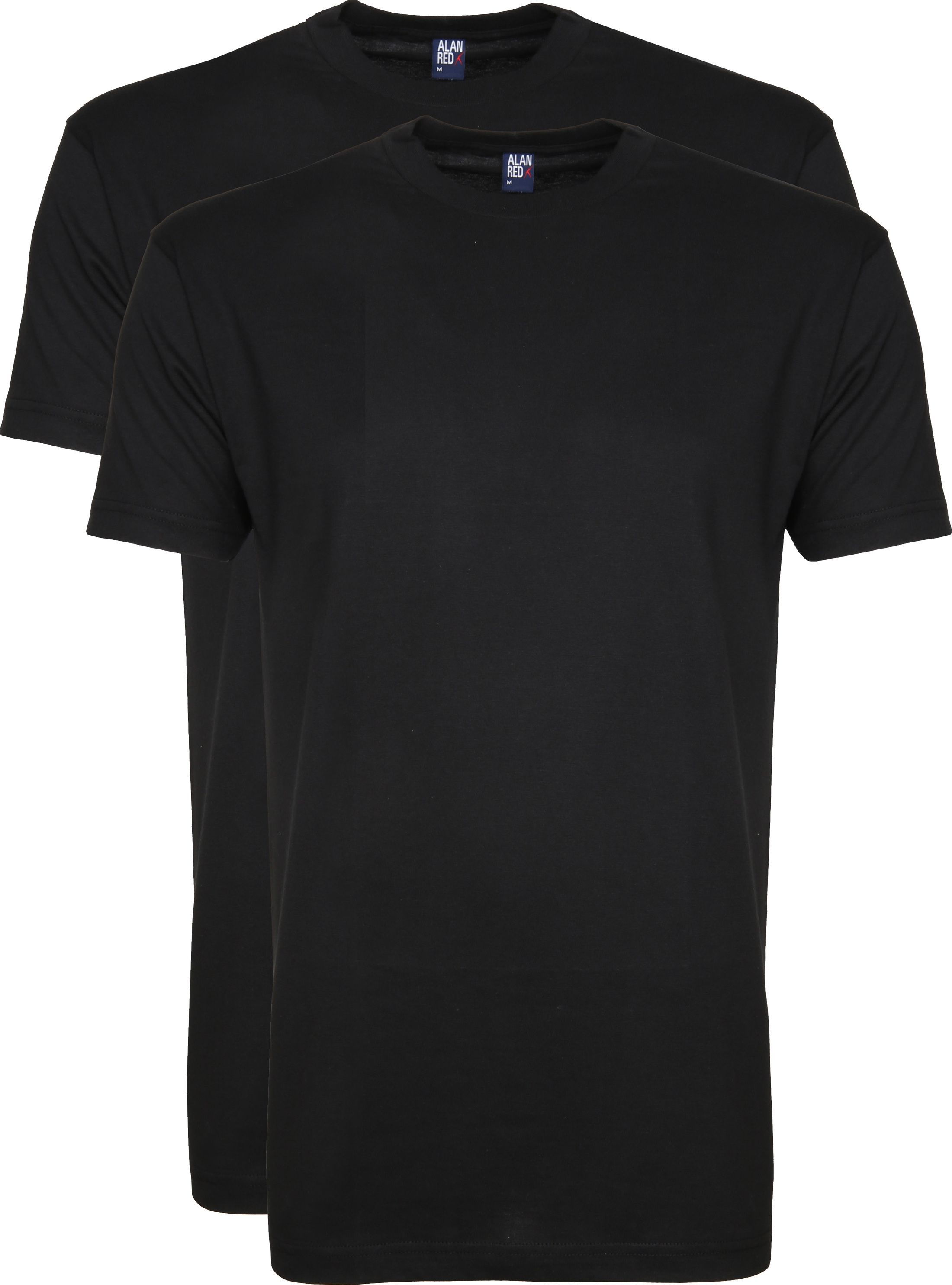 Alan Red T-shirt Virginia O-Neck Black 2-Pack photo 0
