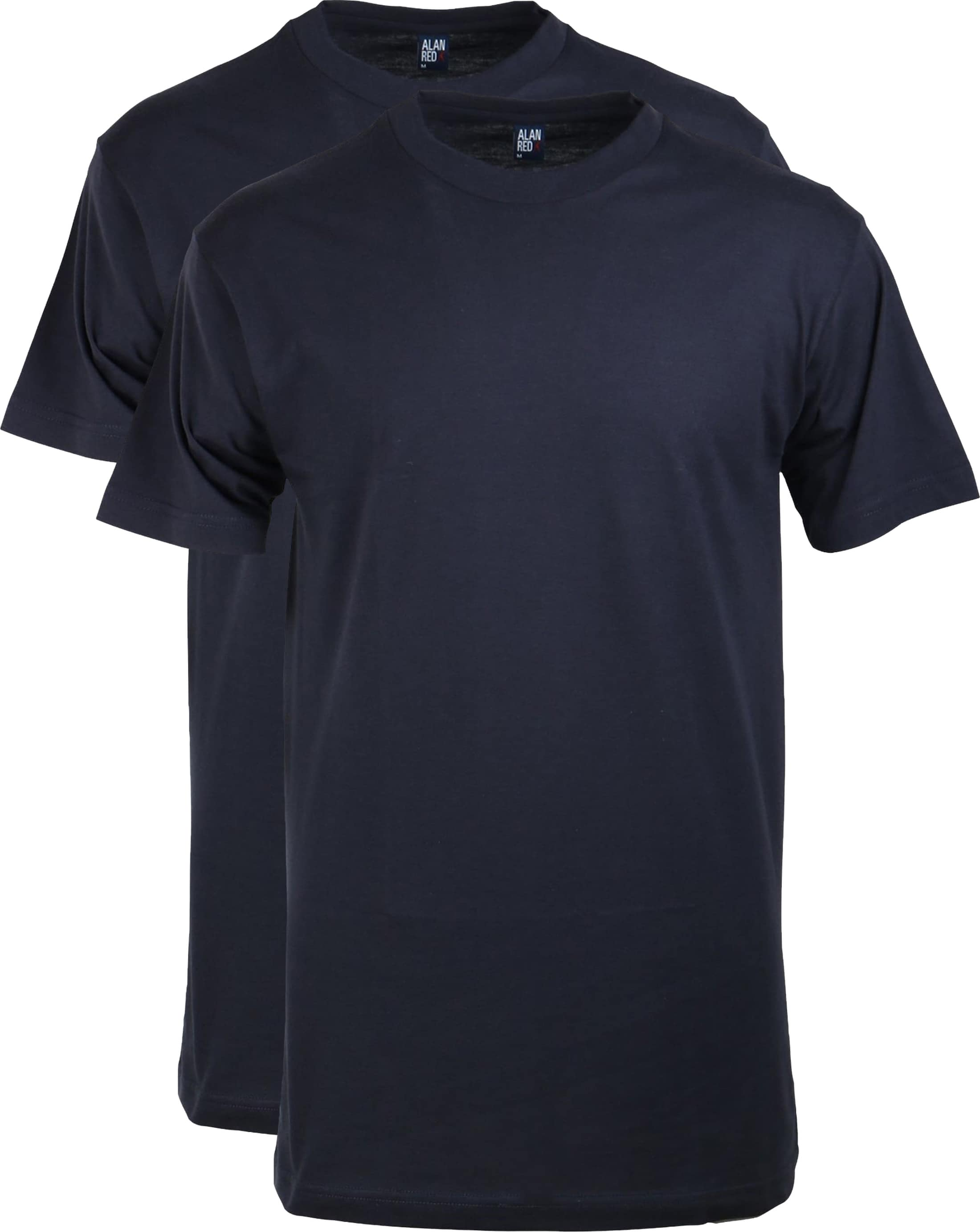 Alan Red T-shirt Virginia O-Neck Navy 2-Pack