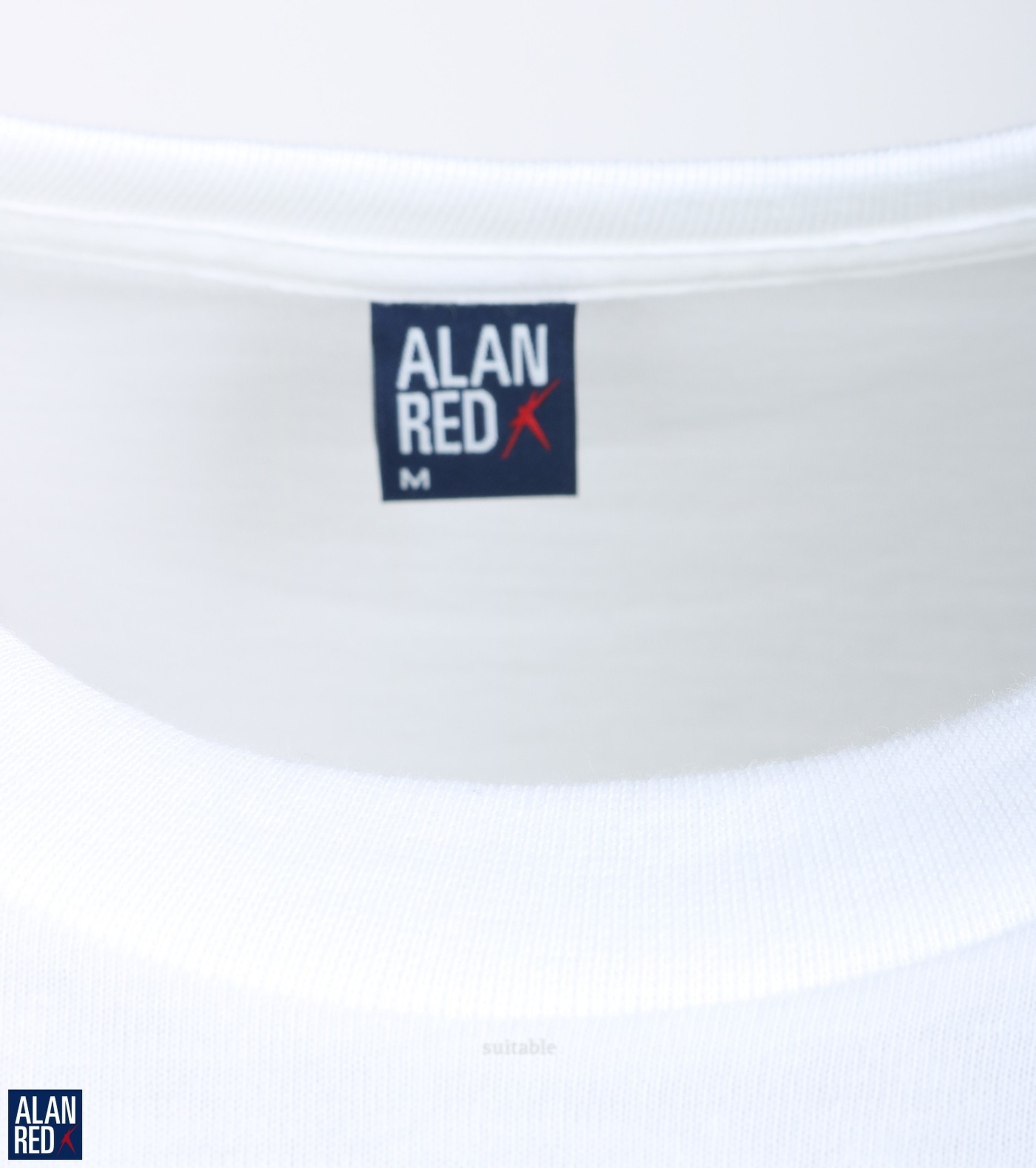 Alan Red T-Shirt Virginia Weiß (2er-Pack) foto 2