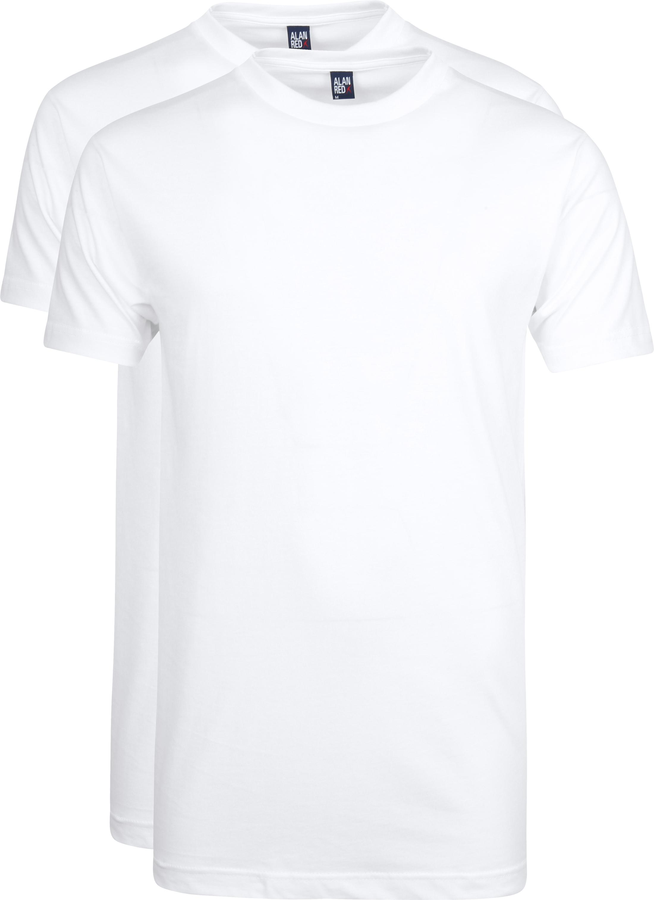 Alan Red T-Shirt Virginia Weiß (2er-Pack)