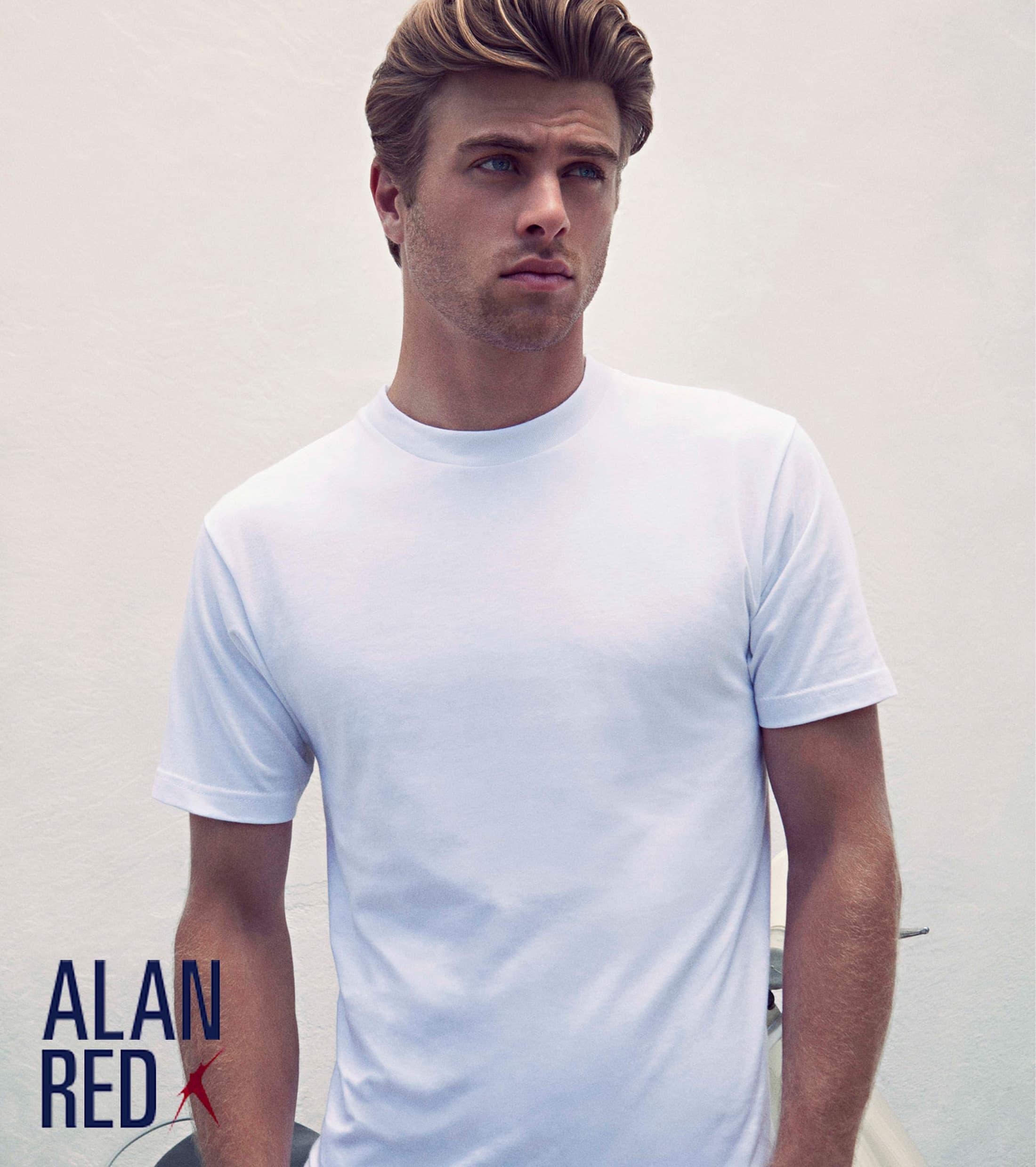 Alan Red T-Shirt Virginia Weiß (2er-Pack) foto 3