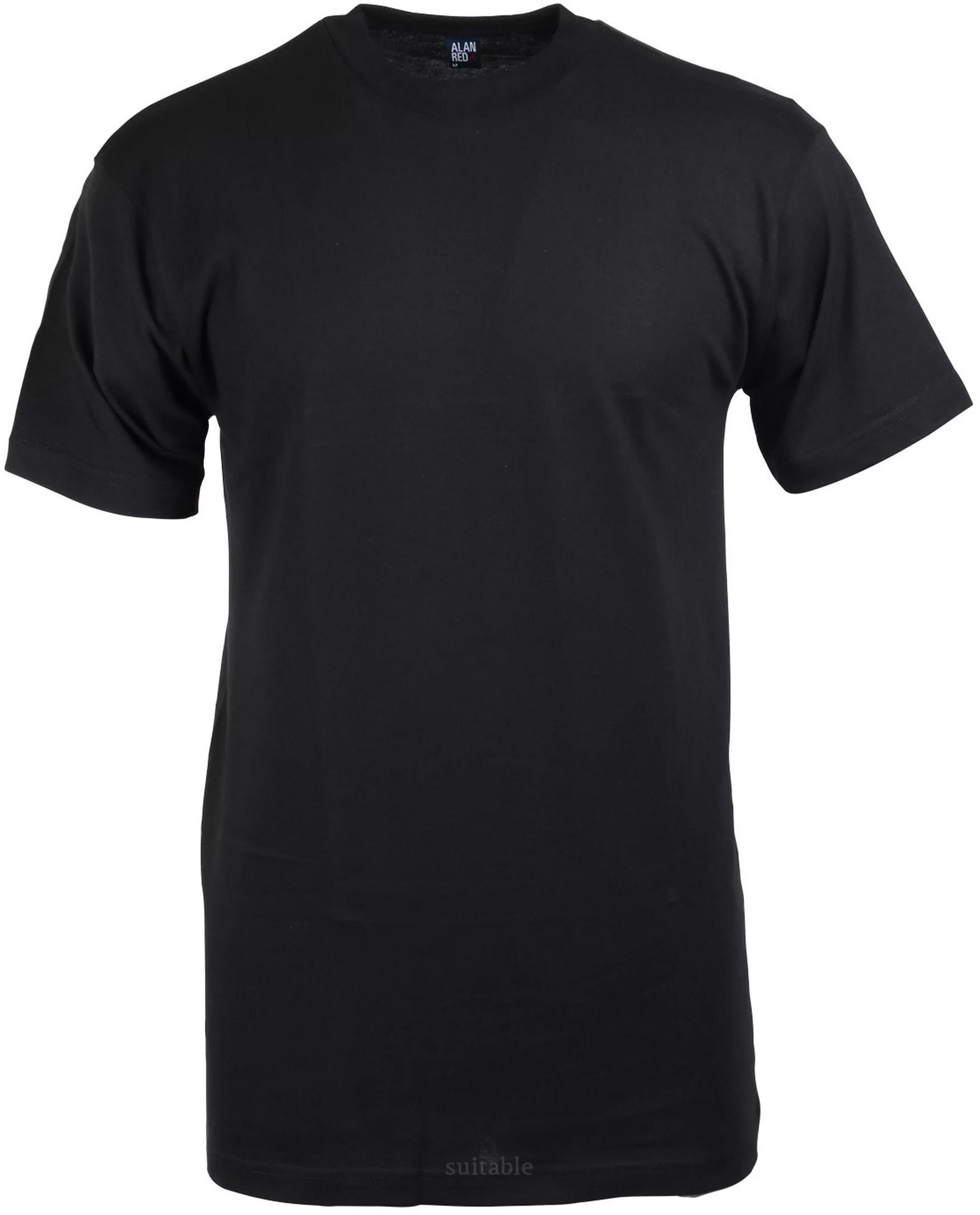 Alan Red T-shirt Virginia Zwart (1pack) foto 0