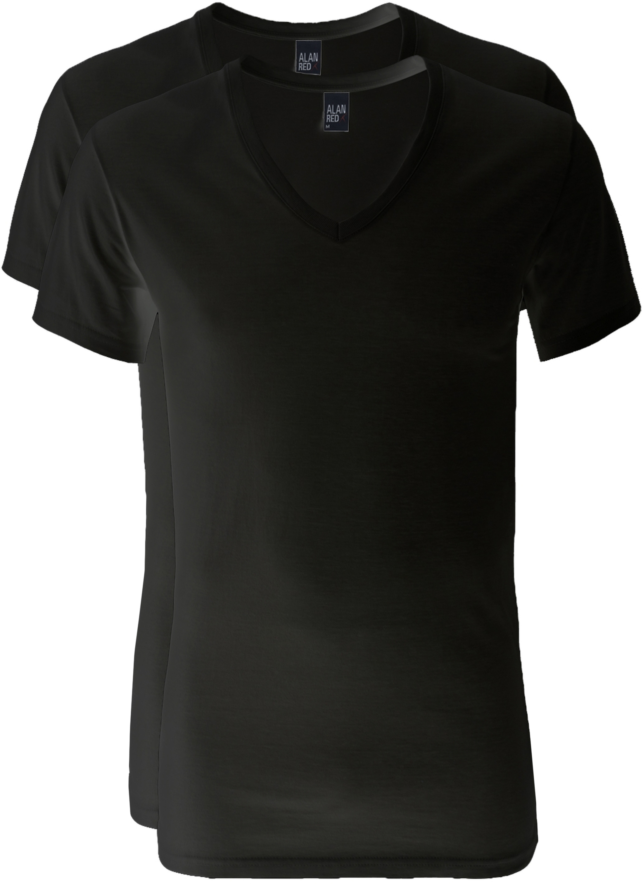 Alan Red V-Neck Dean T-Shirt (2Pack) Black photo 0