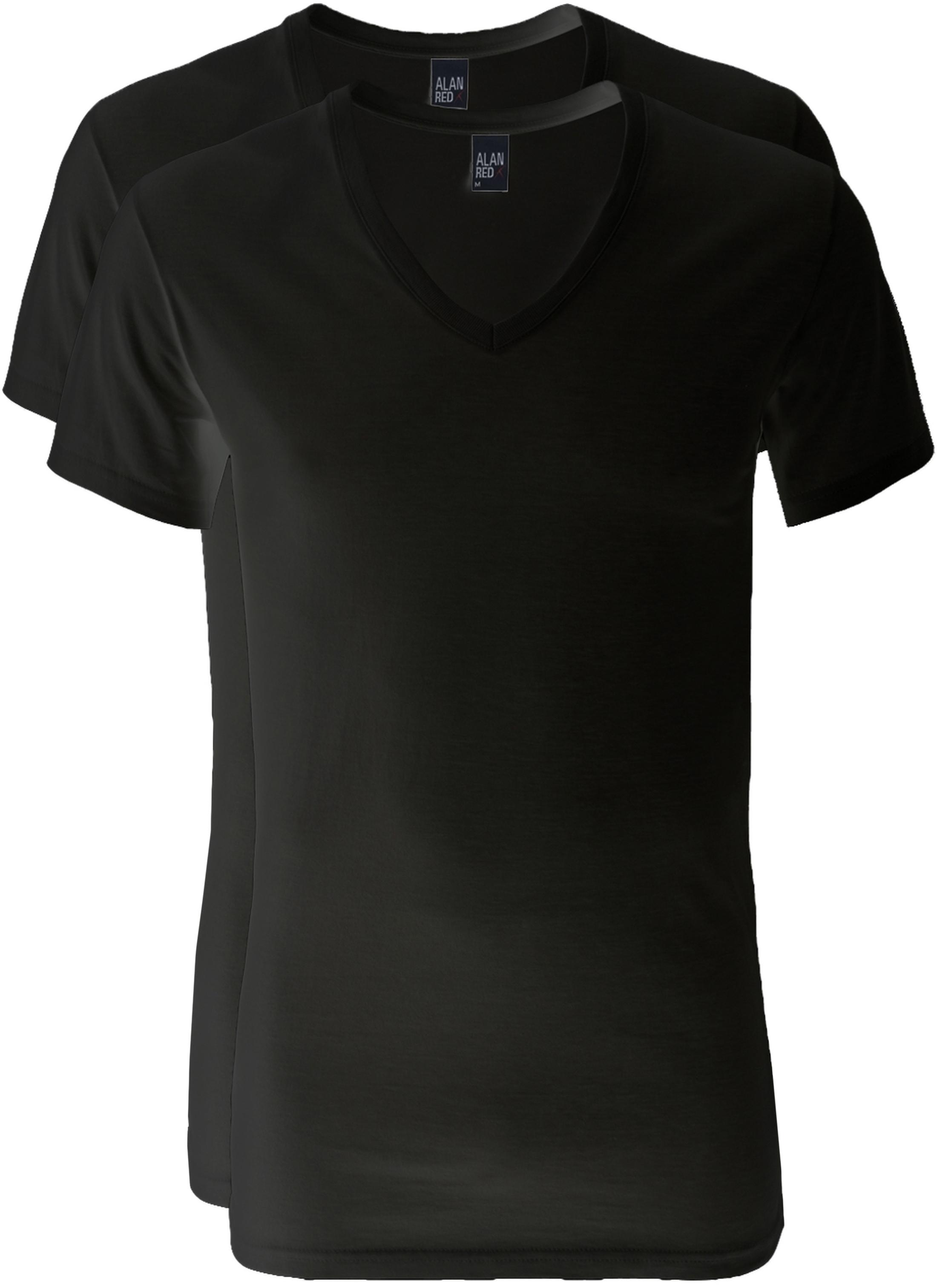 Alan Red V-Neck Dean T-Shirt (2Pack) Black foto 0
