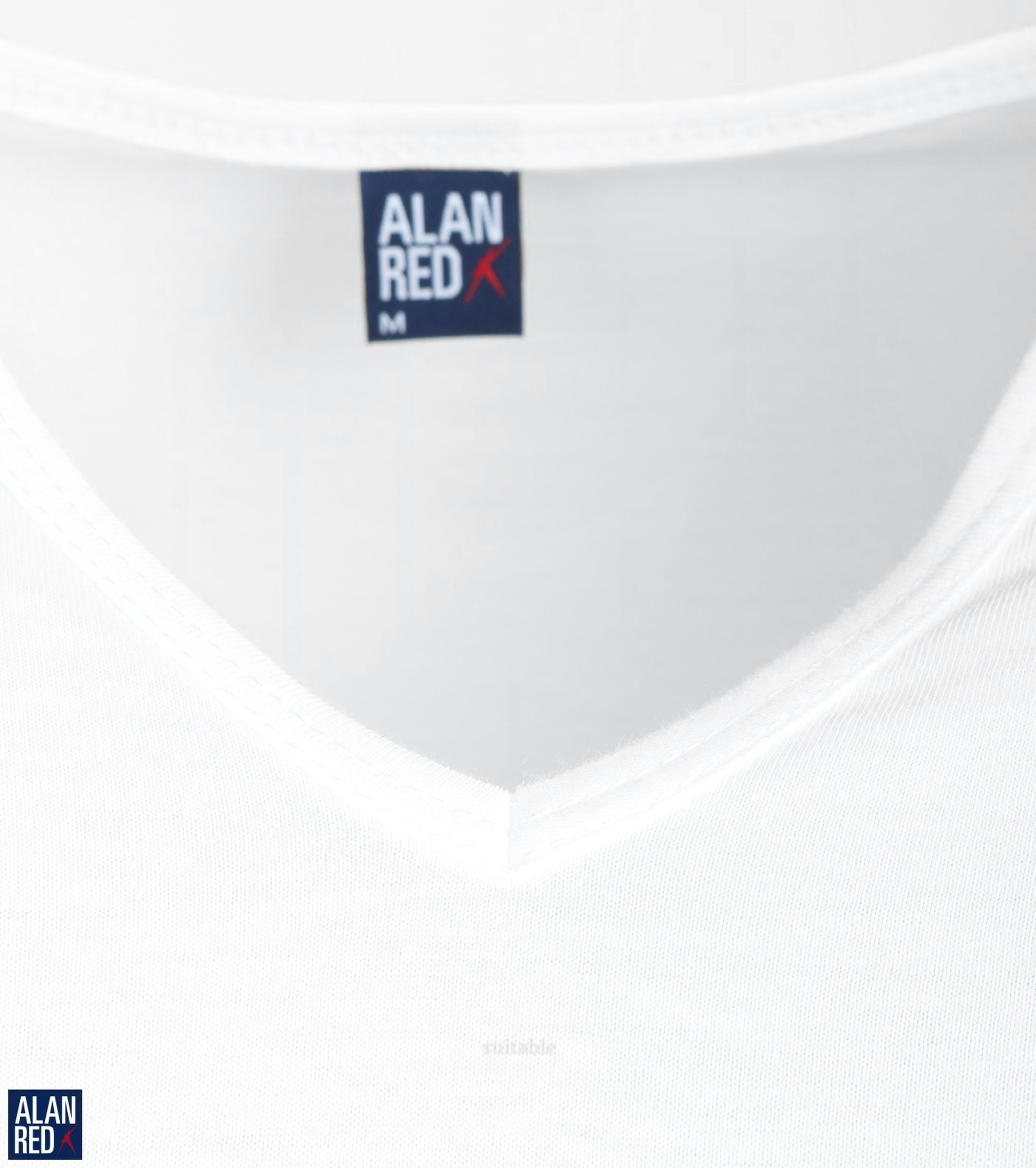 Alan Red Vermont Extra Lange T-Shirts Wit (2Pack) foto 1
