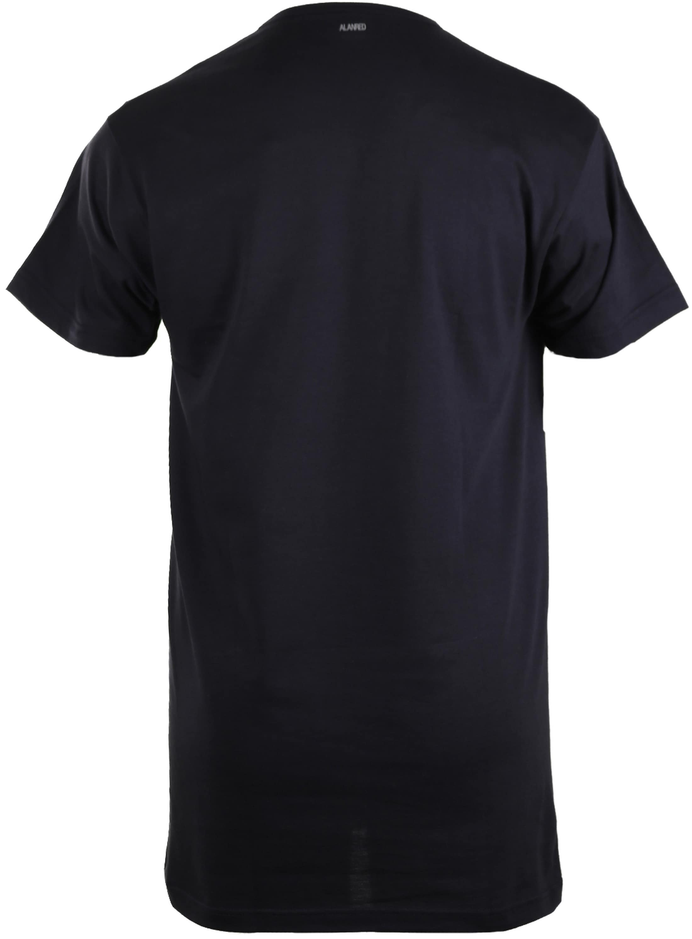 Alan Red Vermont Extra Long T-shirts Navy 2-Pack foto 2