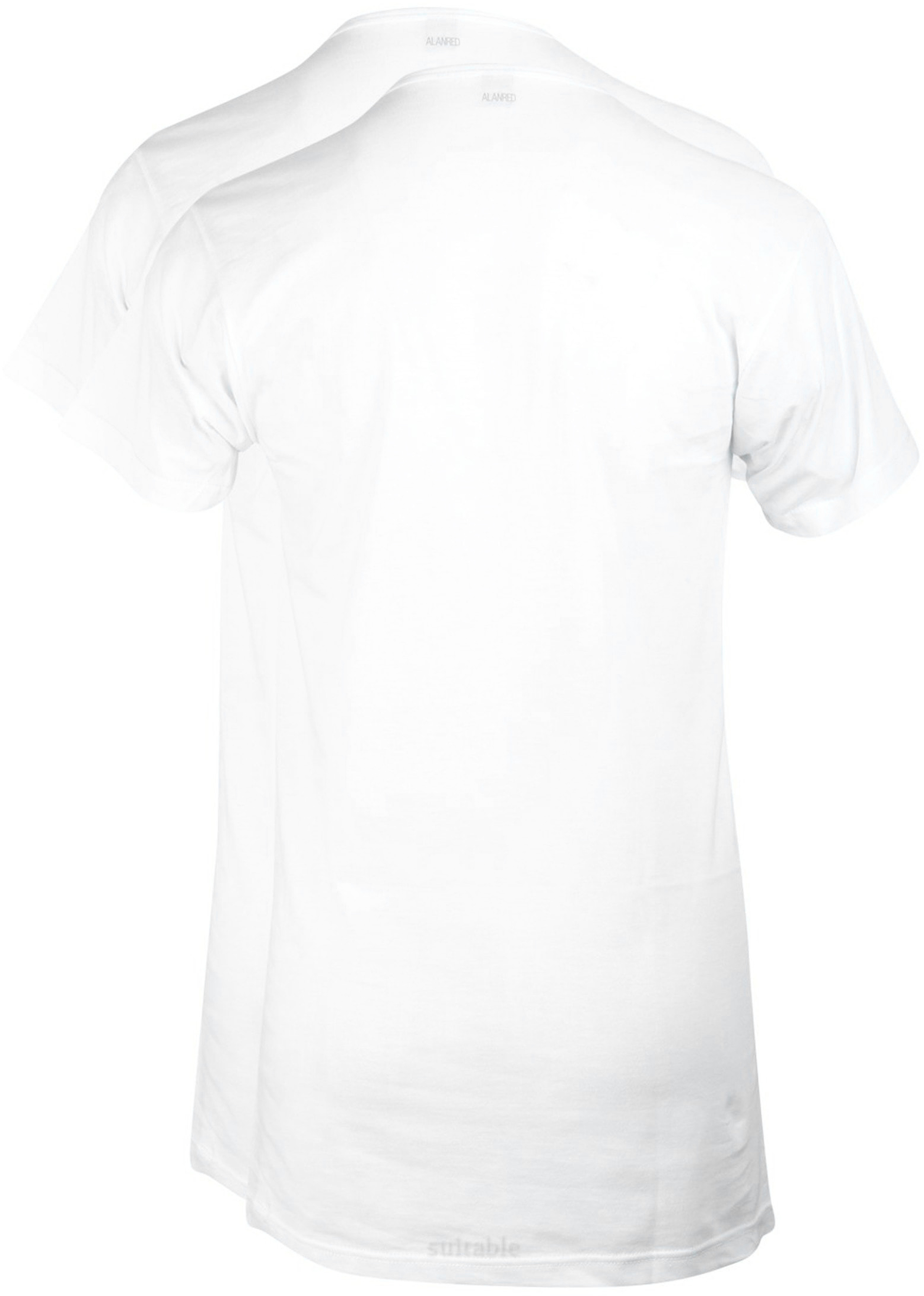 Alan Red Vermont Extra Long T-shirts White 2-Pack foto 2