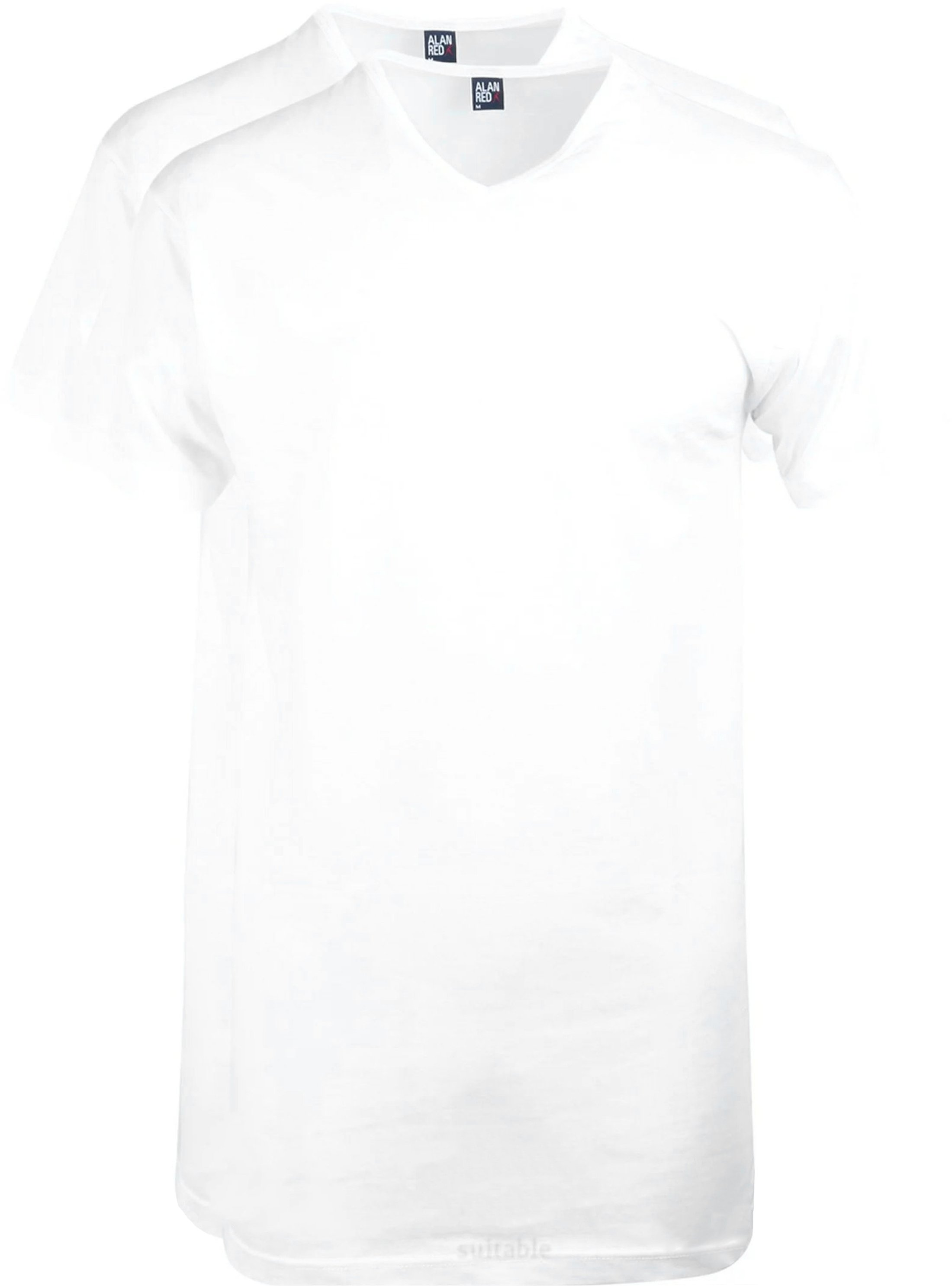 Alan Red Vermont Extra Long T-shirts White 2-Pack foto 0