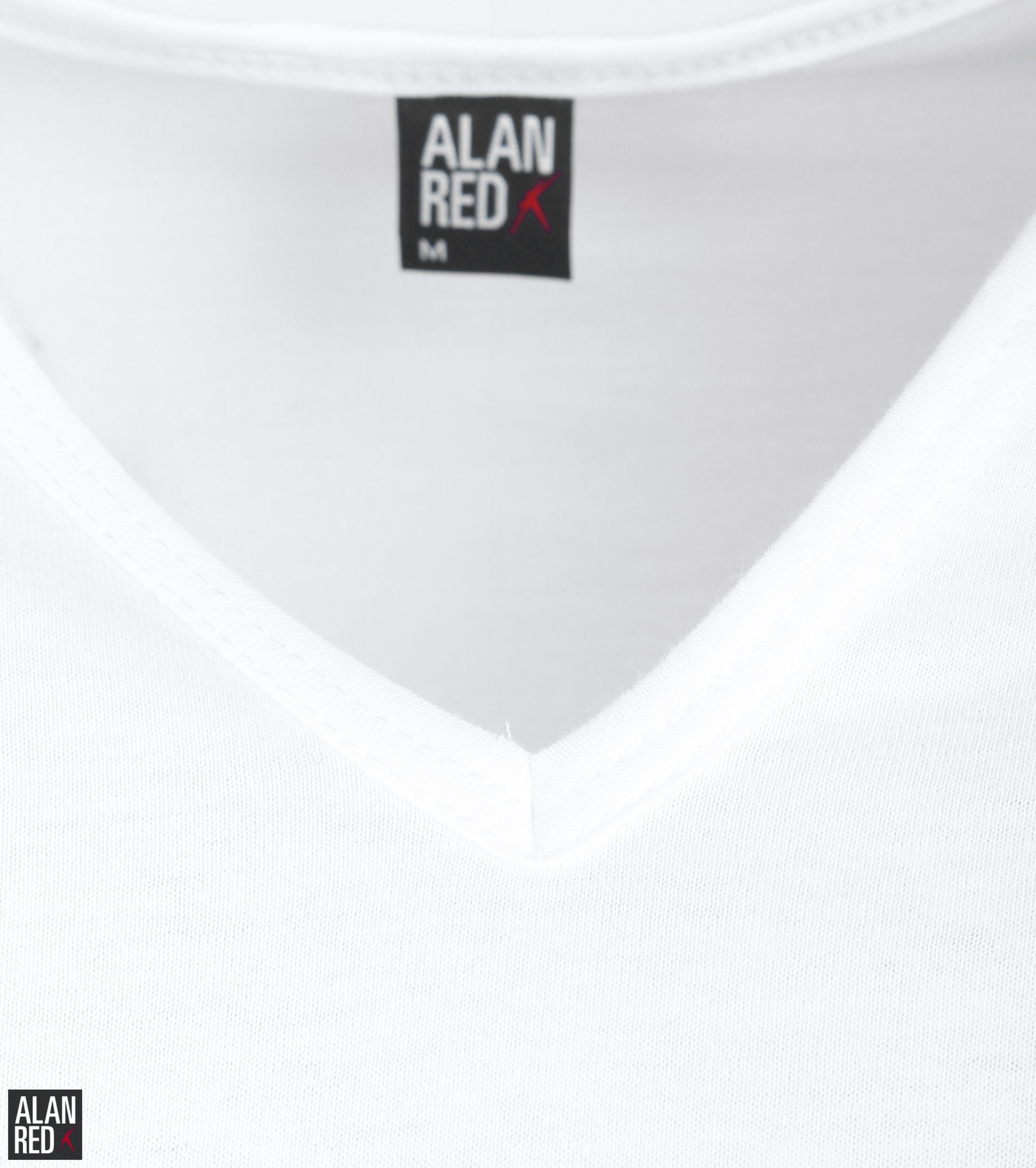 Alan Red Vermont T-Shirt V-Hals Wit (2Pack) foto 2