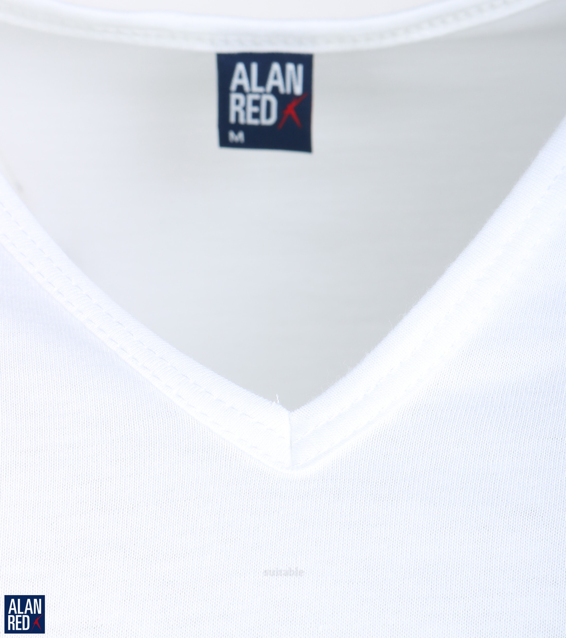 Alan Red Vermont T-Shirt V-Hals Wit (2Pack) foto 1