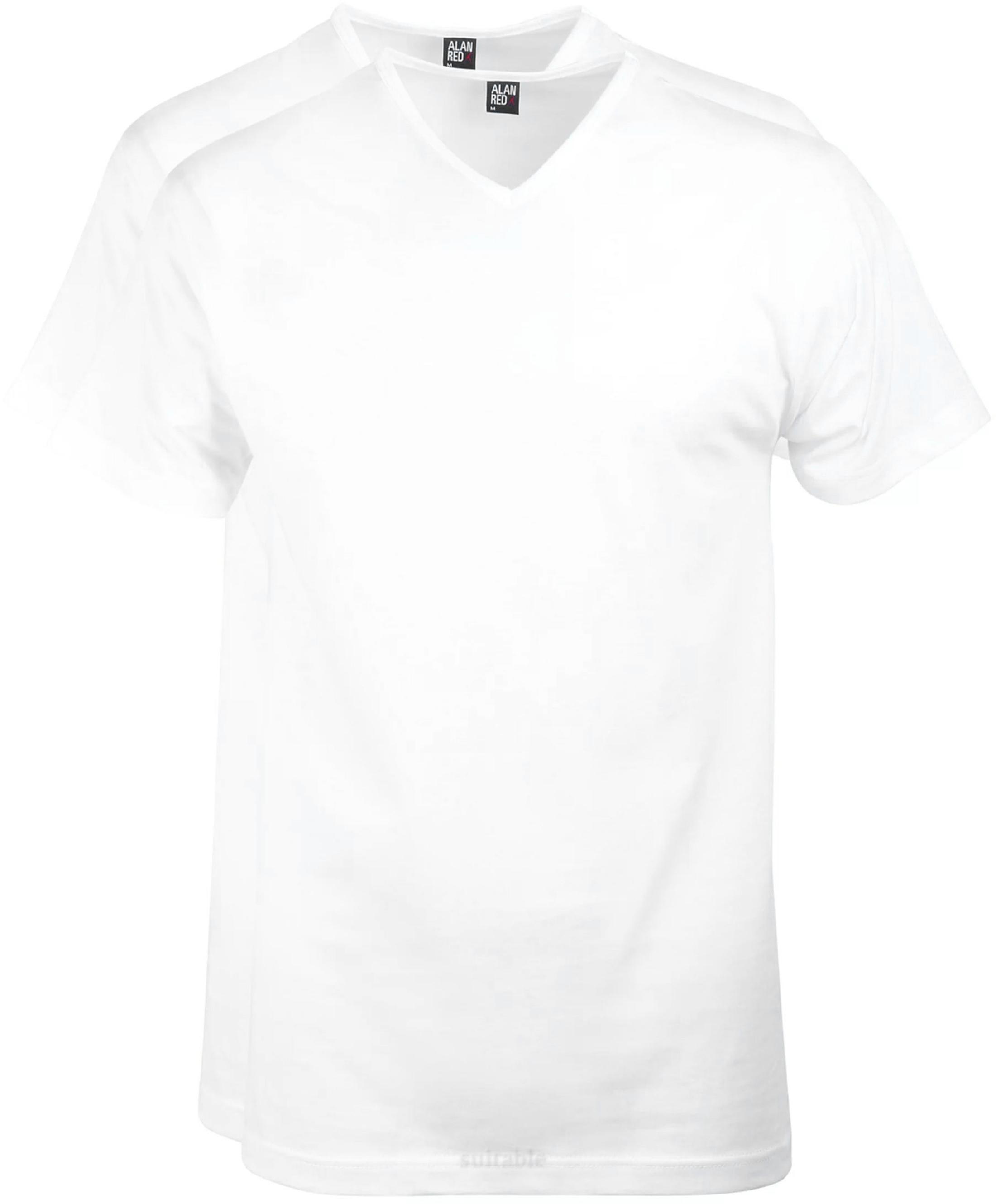 Alan Red Vermont T-Shirt V-Hals Wit (2Pack) foto 0