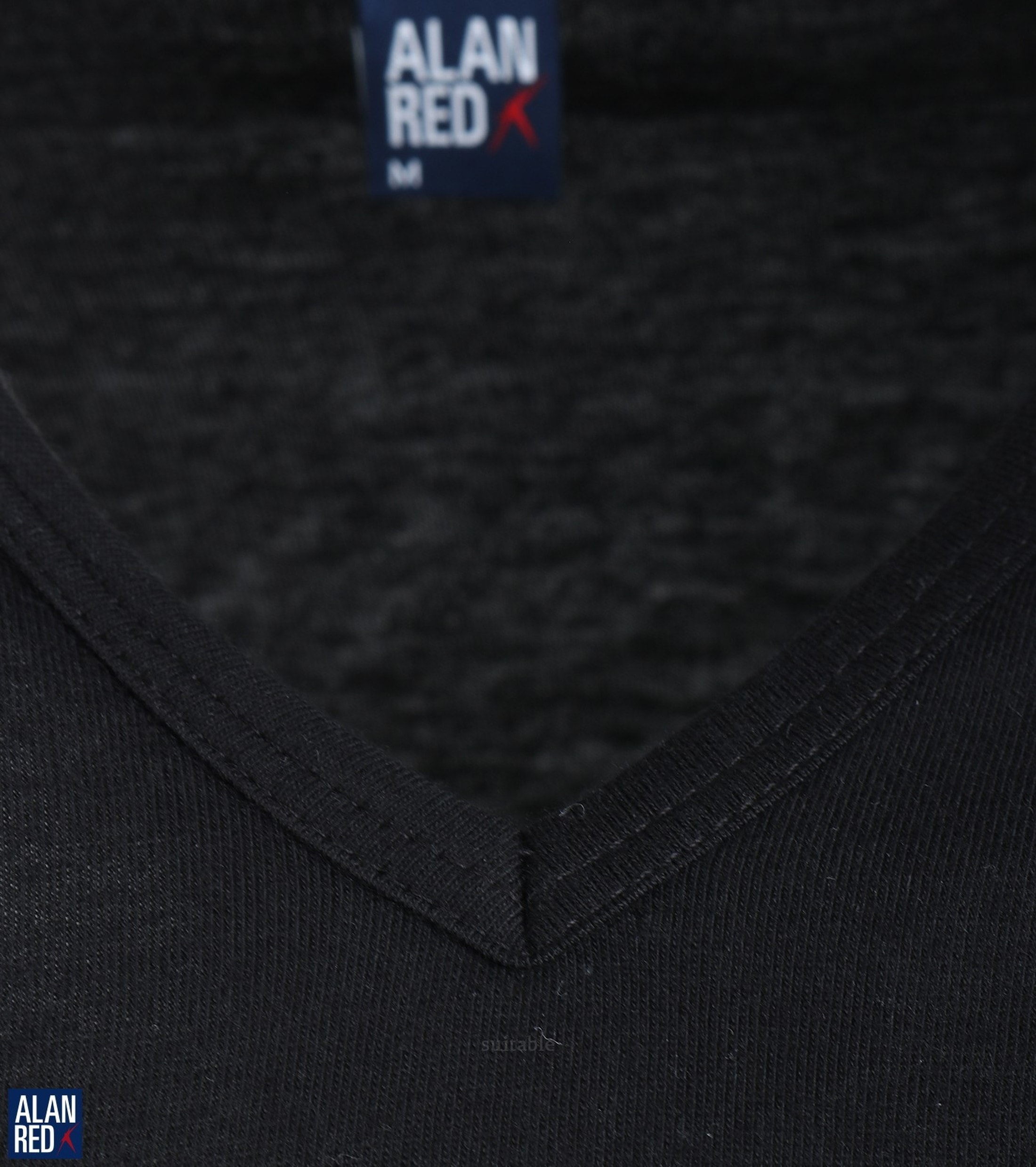Alan Red Vermont T-Shirt V-Hals Zwart (1Pack) foto 2