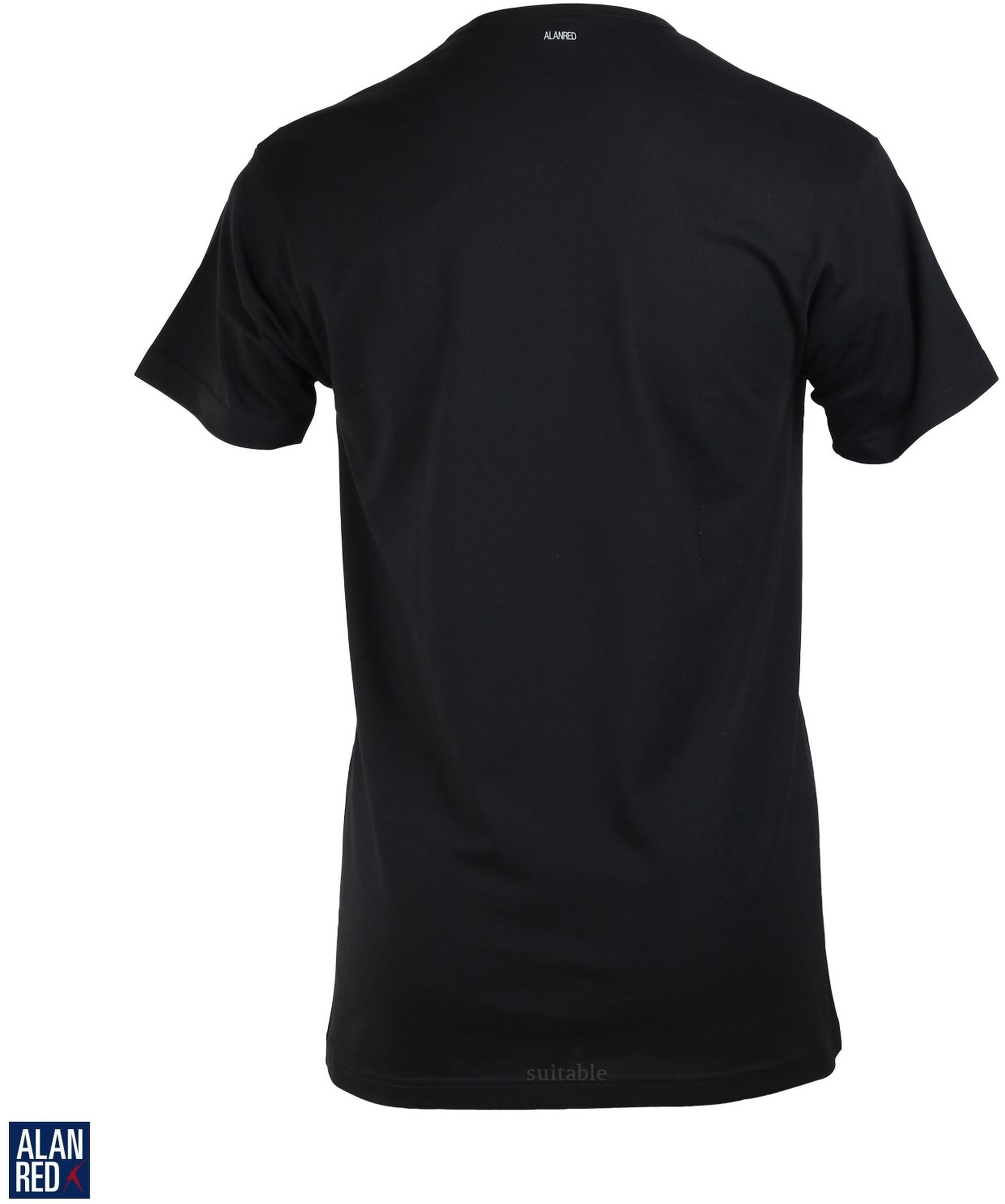 Alan Red Vermont T-shirt V-Neck Black 1-Pack foto 1