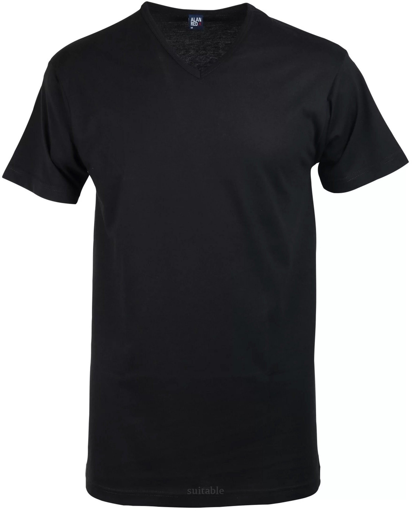 Alan Red Vermont T-shirt V-Neck Black 1-Pack foto 0