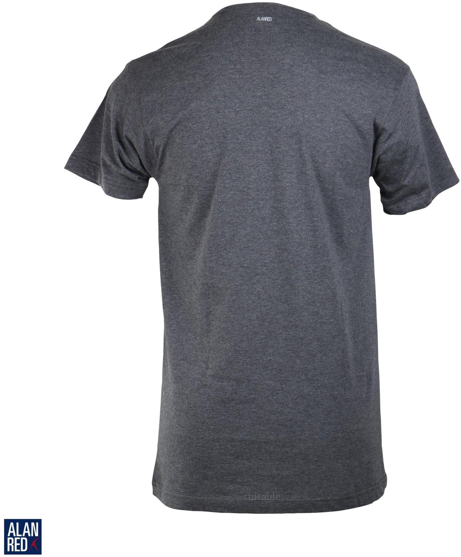 Alan Red Vermont T-shirt V-Neck Dark Grey 1-Pack foto 1