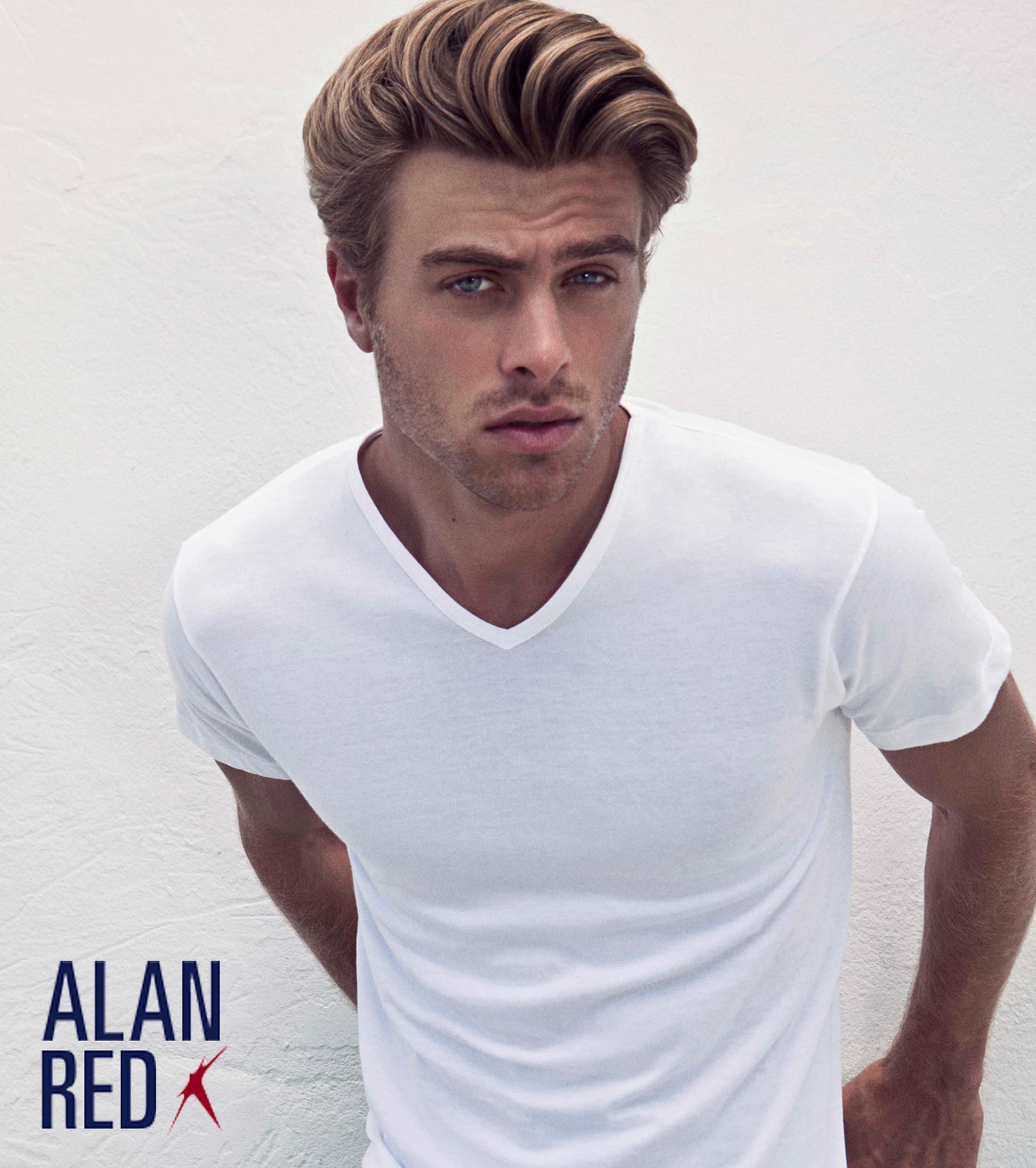 Alan Red Vermont T-shirt V-Neck Dark Grey 1-Pack foto 3