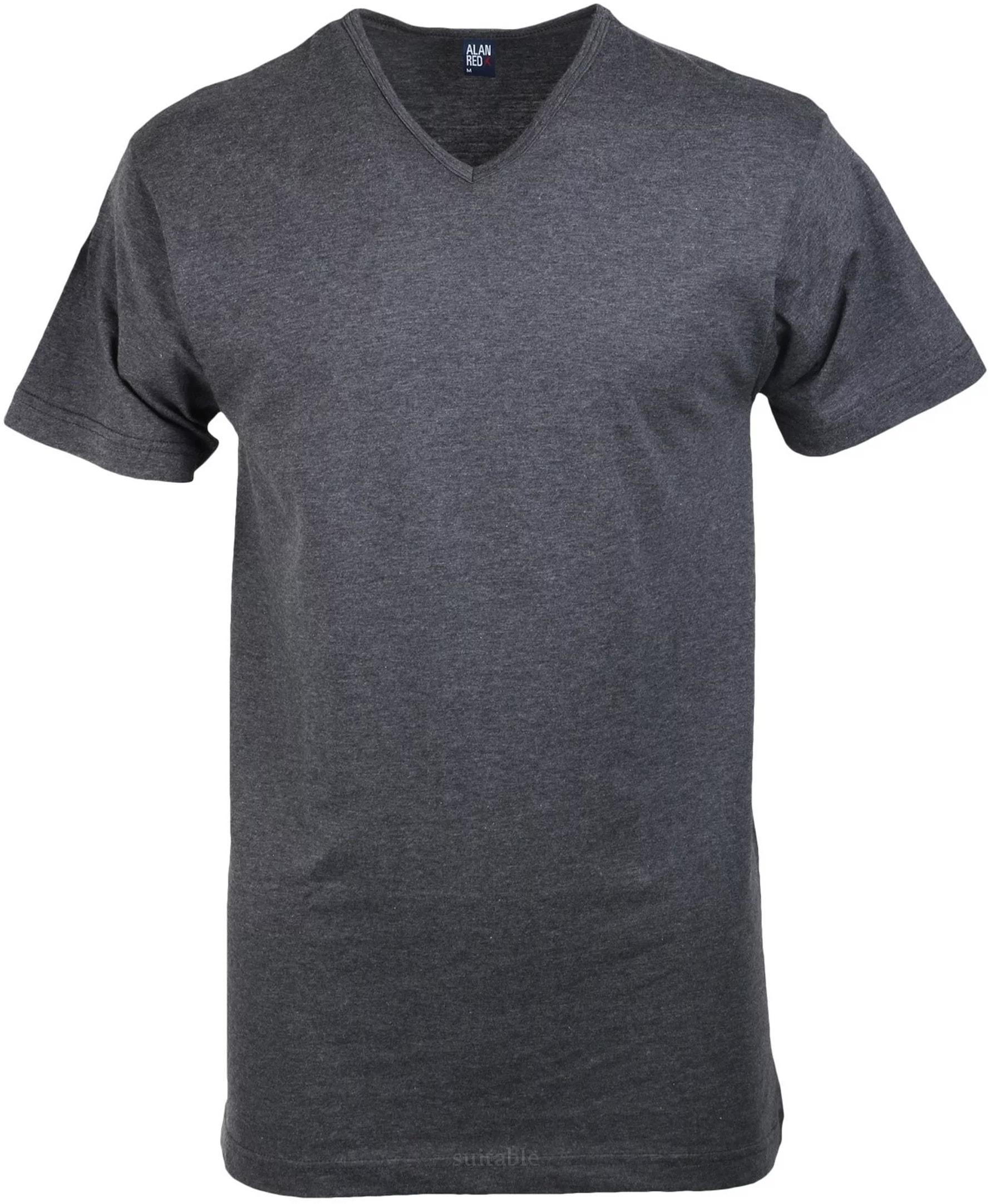 Alan Red Vermont T-shirt V-Neck Dark Grey 1-Pack foto 0