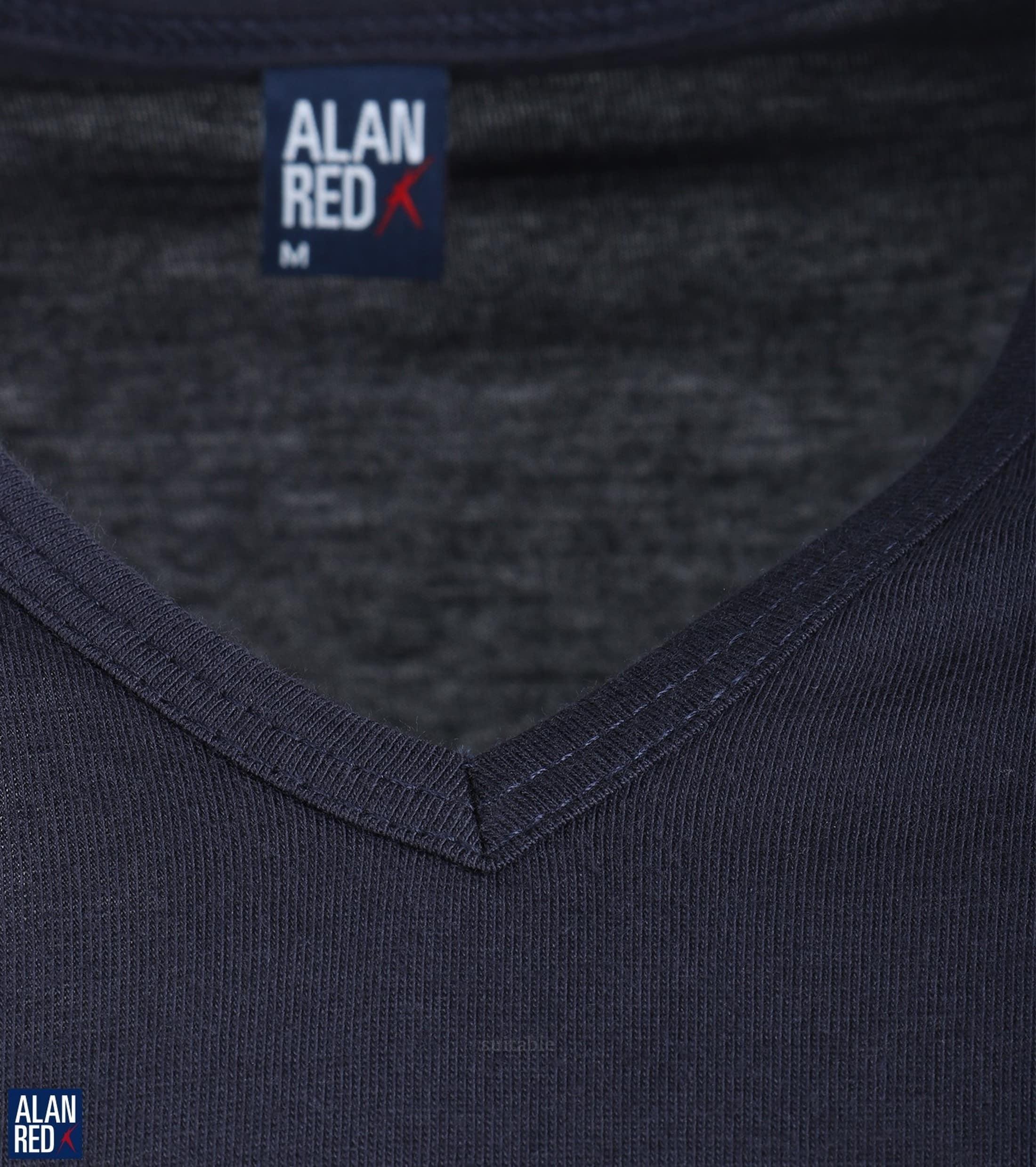 Alan Red Vermont T-shirt V-Neck Navy 1-Pack foto 2