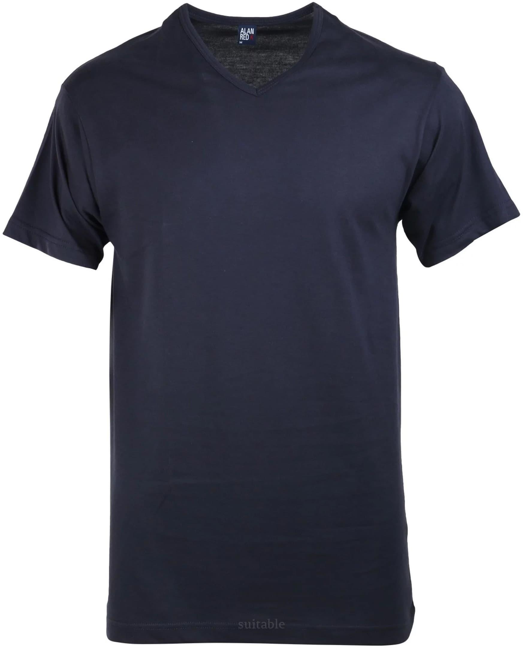 Alan Red Vermont T-shirt V-Neck Navy 1-Pack foto 0