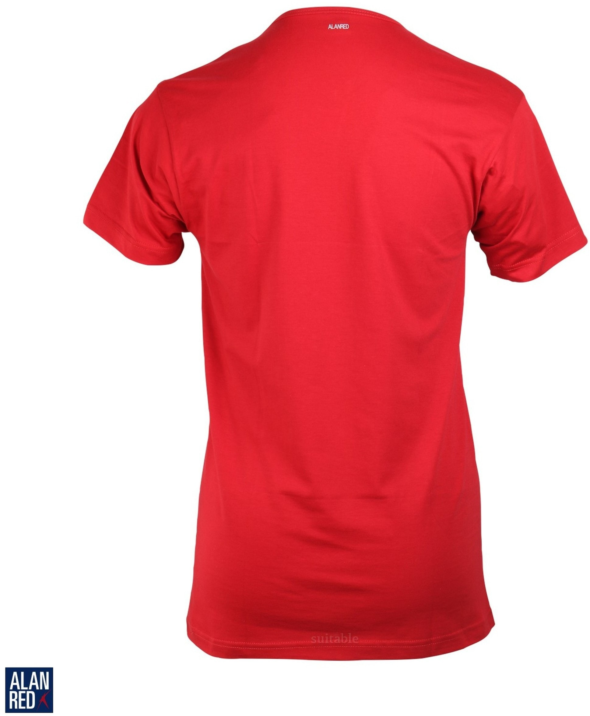 Alan Red Vermont T-shirt V-Neck Red 1-Pack