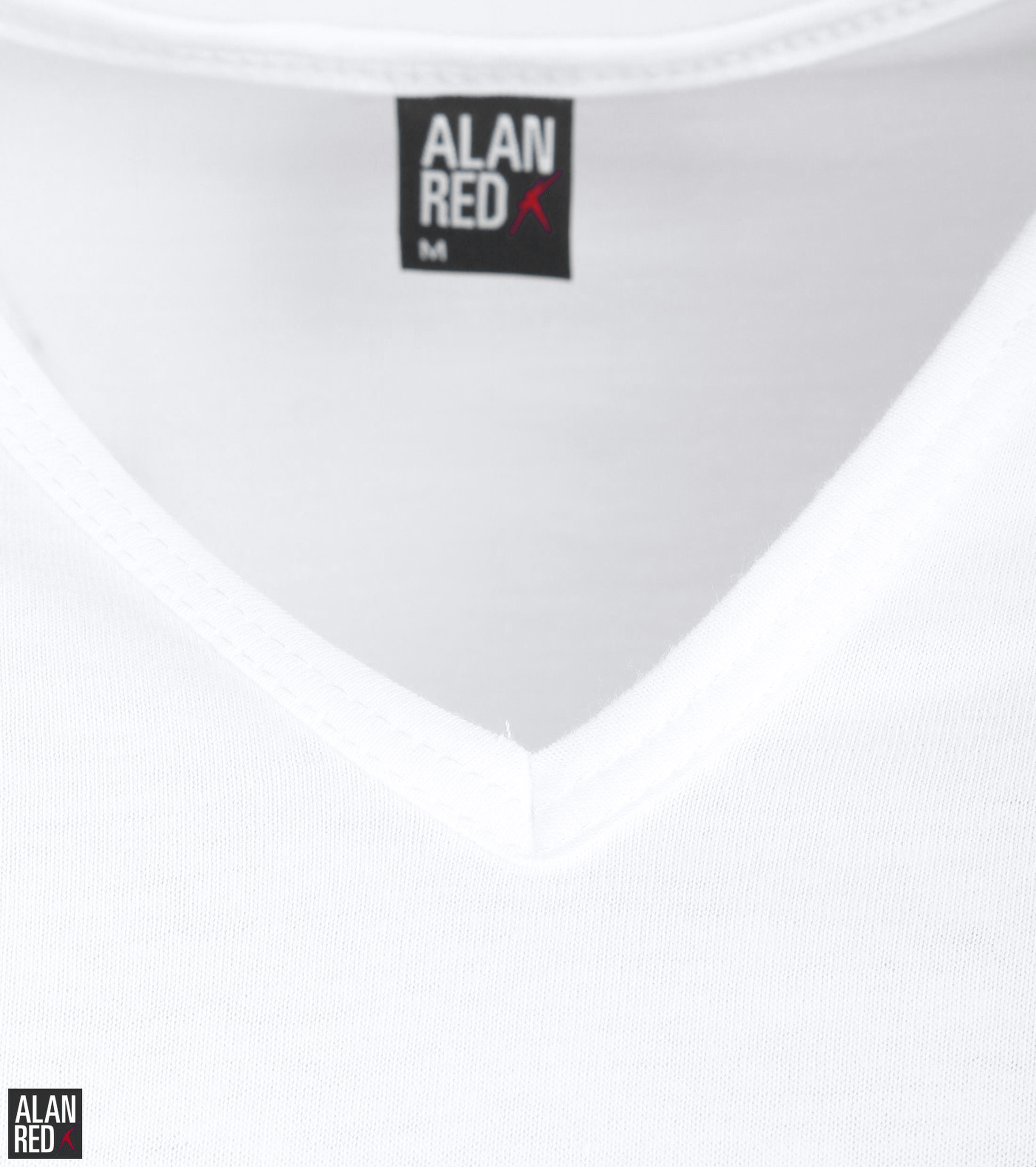 Alan Red Vermont T-Shirt V-Neck White (2Pack) foto 2