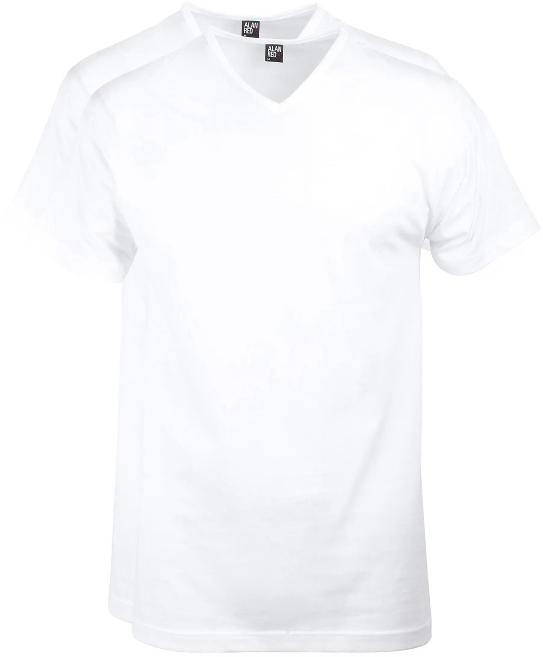 Alan Red Vermont T-Shirt V-Neck White (2Pack) foto 0