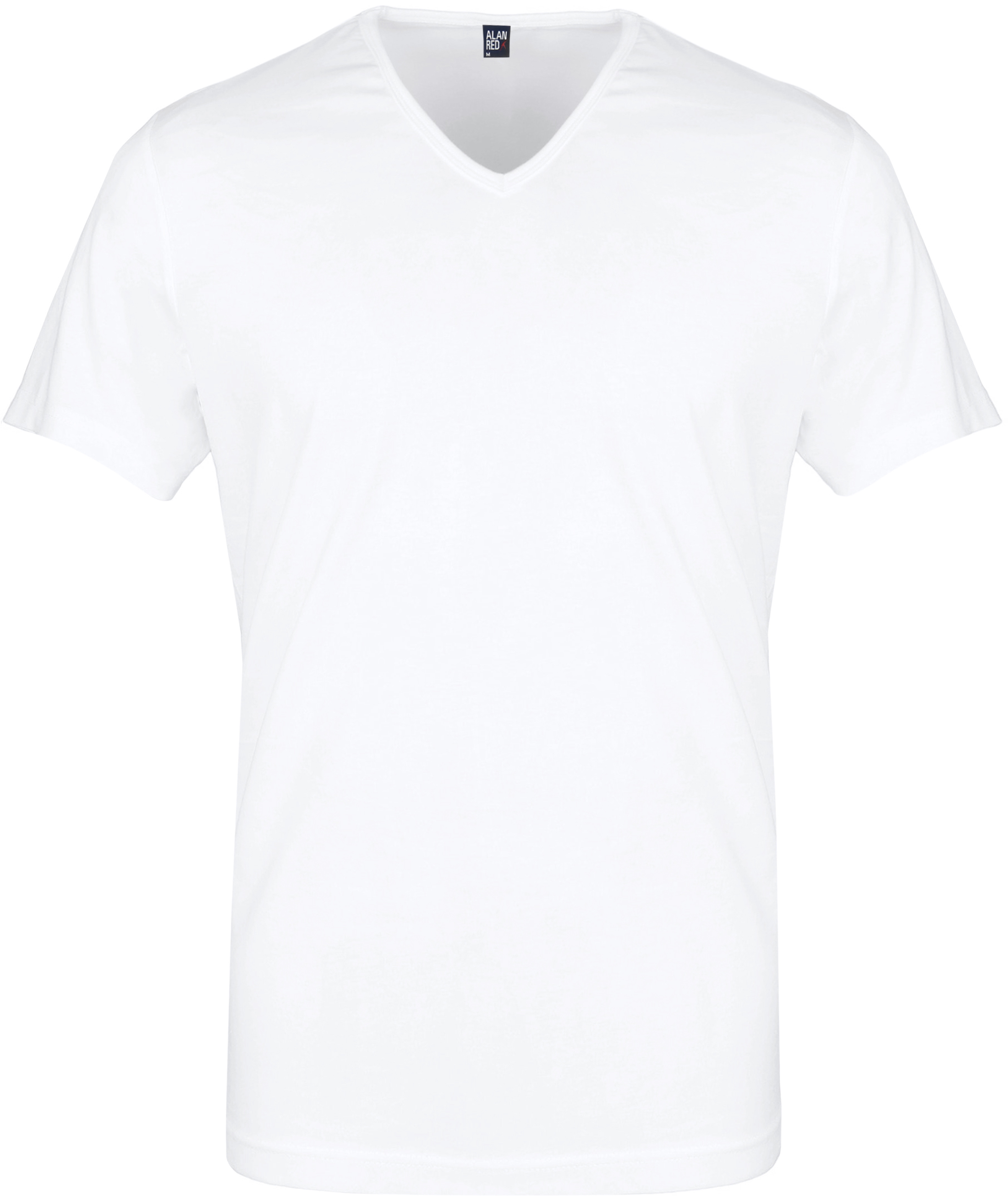 Alan Red Vermont T-Shirt V-Neck White (2Pack) foto 1