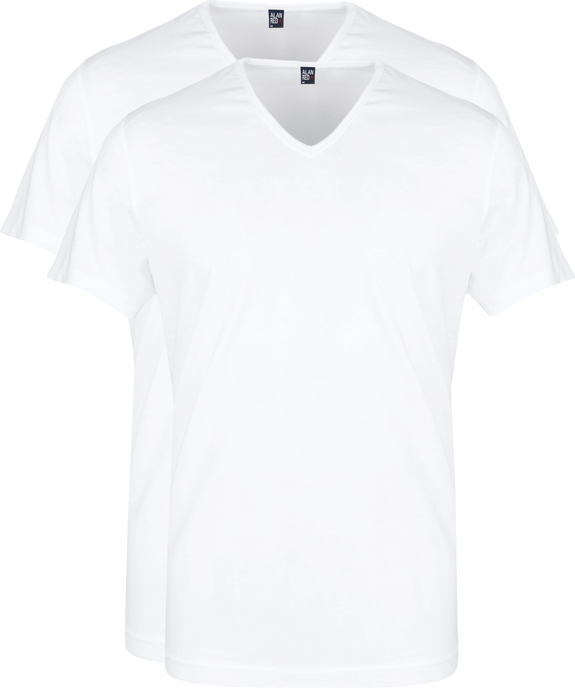 Alan Red Vermont T-Shirt V-Neck White (2Pack) foto 0