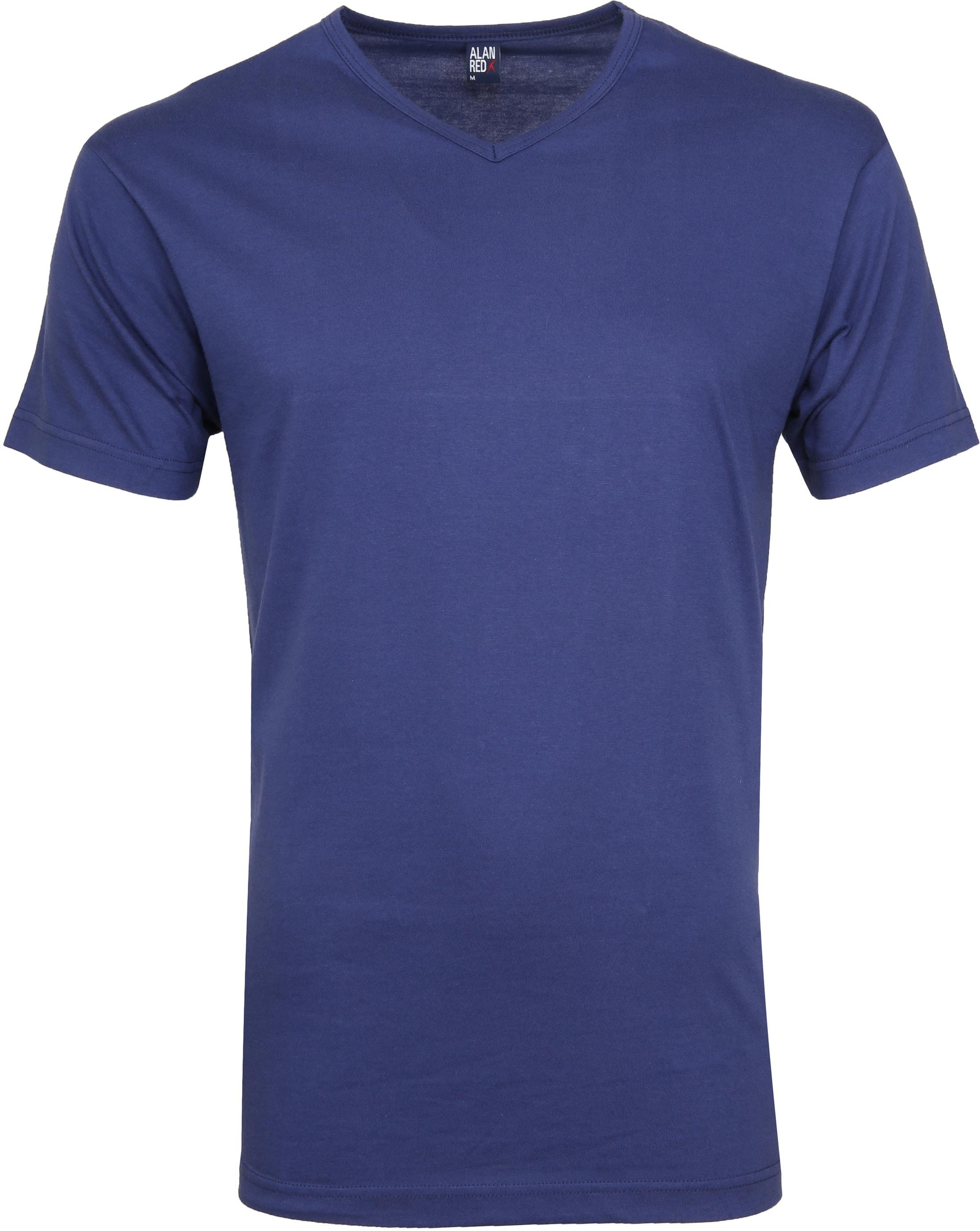 Alan Red Vermont T-shirts V-Hals Blauw (2Pack) foto 1