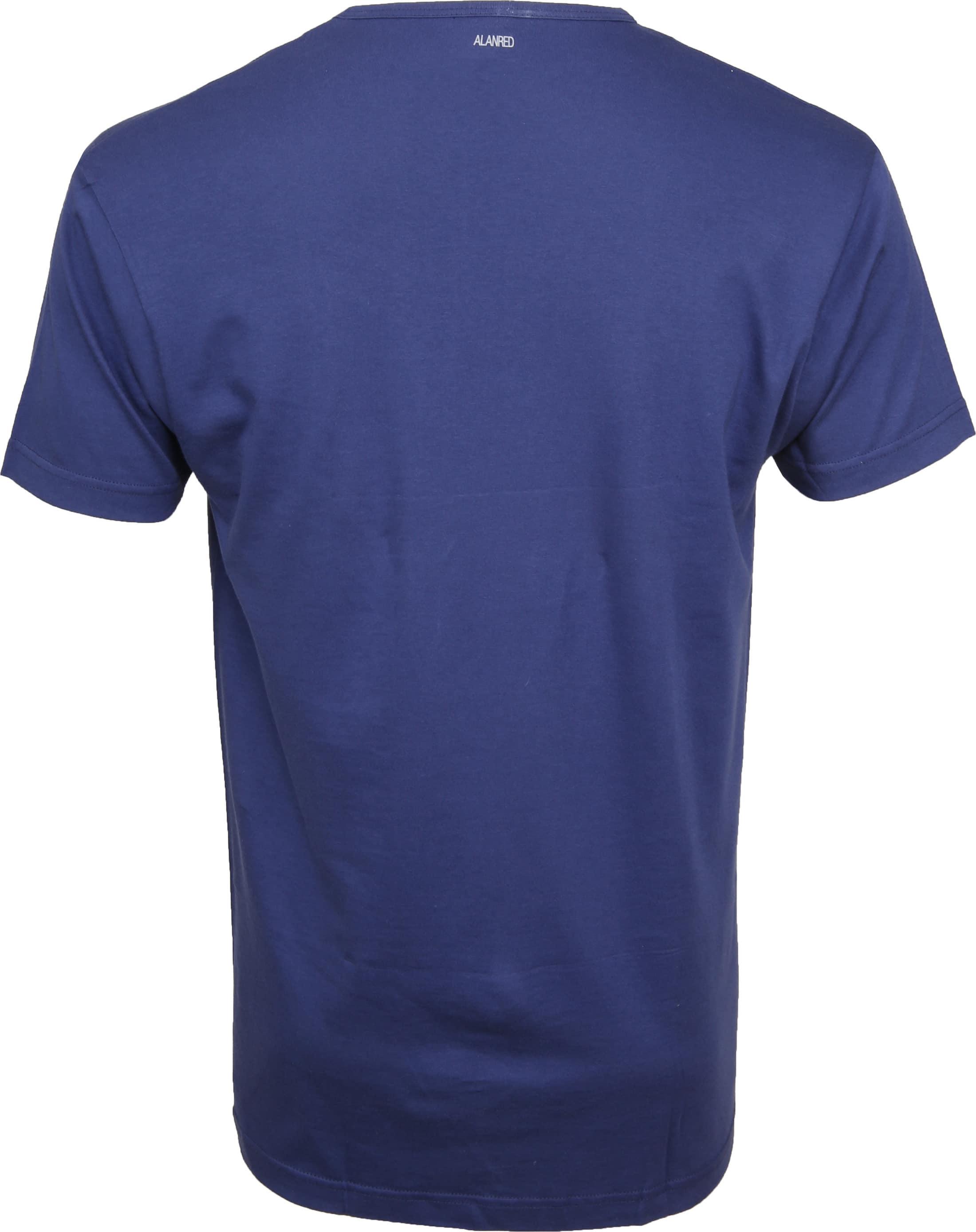 Alan Red Vermont T-shirts V-Hals Blauw (2Pack) foto 4