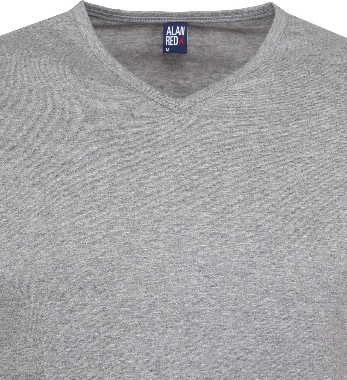 Alan Red Vermont T-shirts V-Hals Grijs (2Pack) foto 2