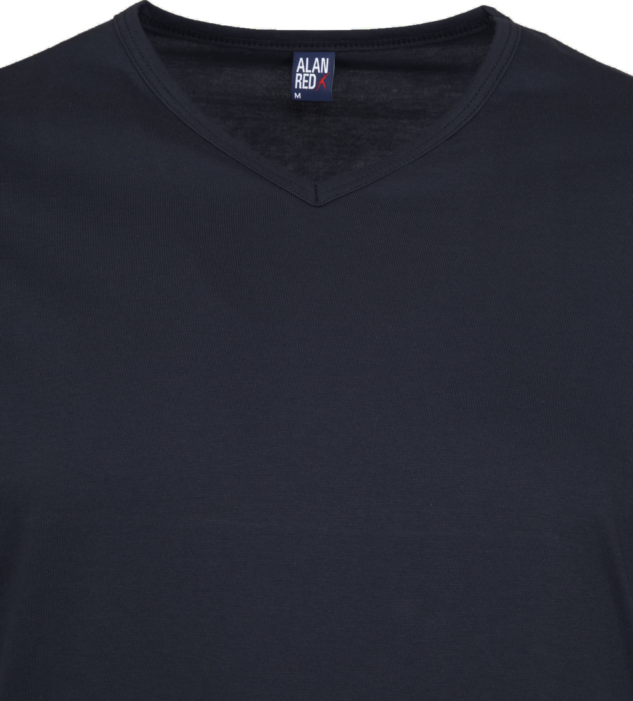 Alan Red Vermont T-shirts V-Hals Navy (2Pack) foto 2
