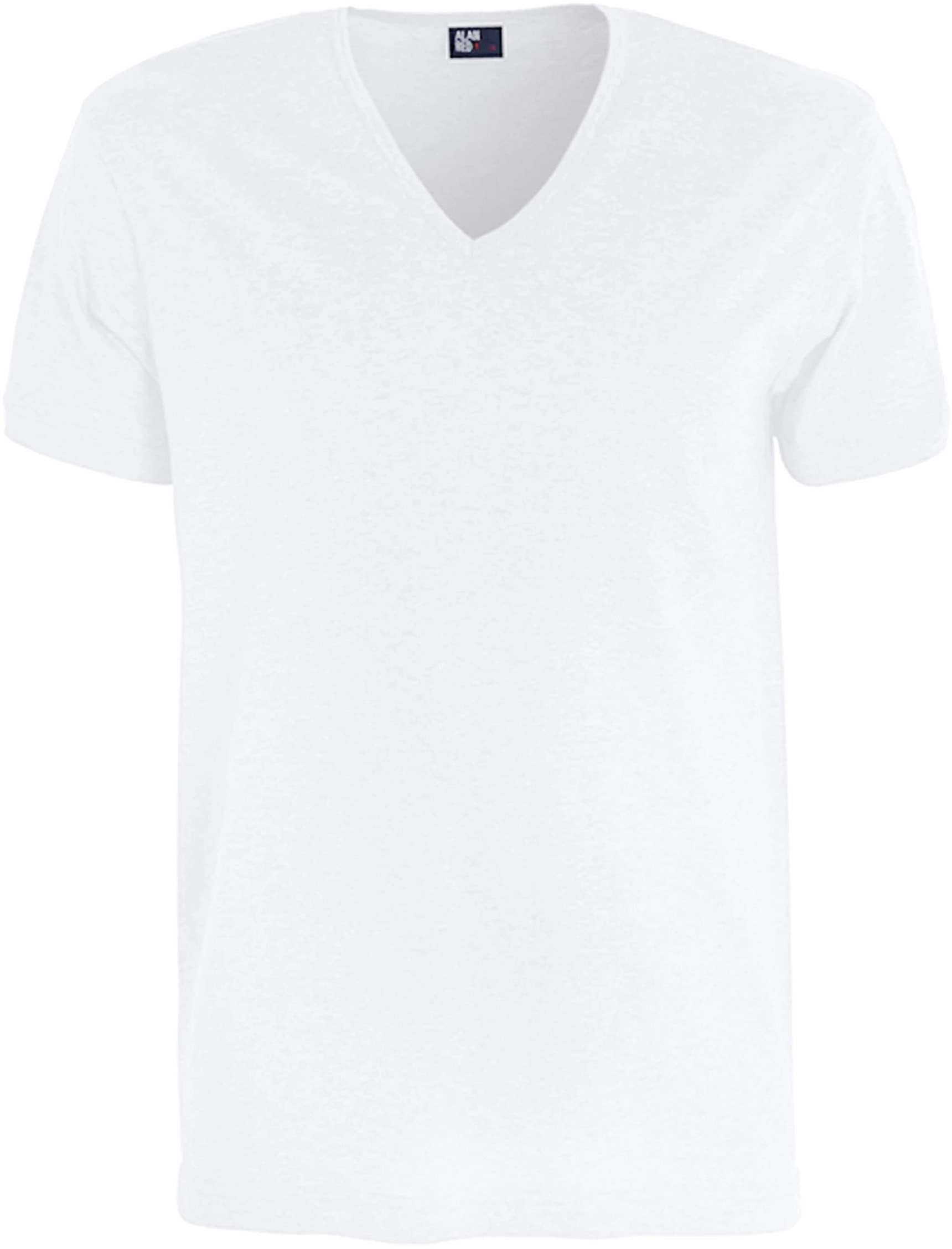 Alan Red Verner T-shirt Deep V-Neck White 1-Pack foto 0
